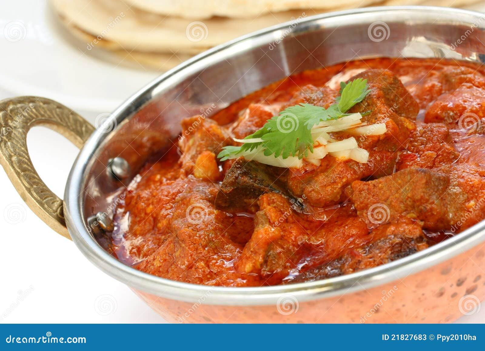 Josh rogan da carne de carneiro, caril da carne de carneiro, culinária indiana