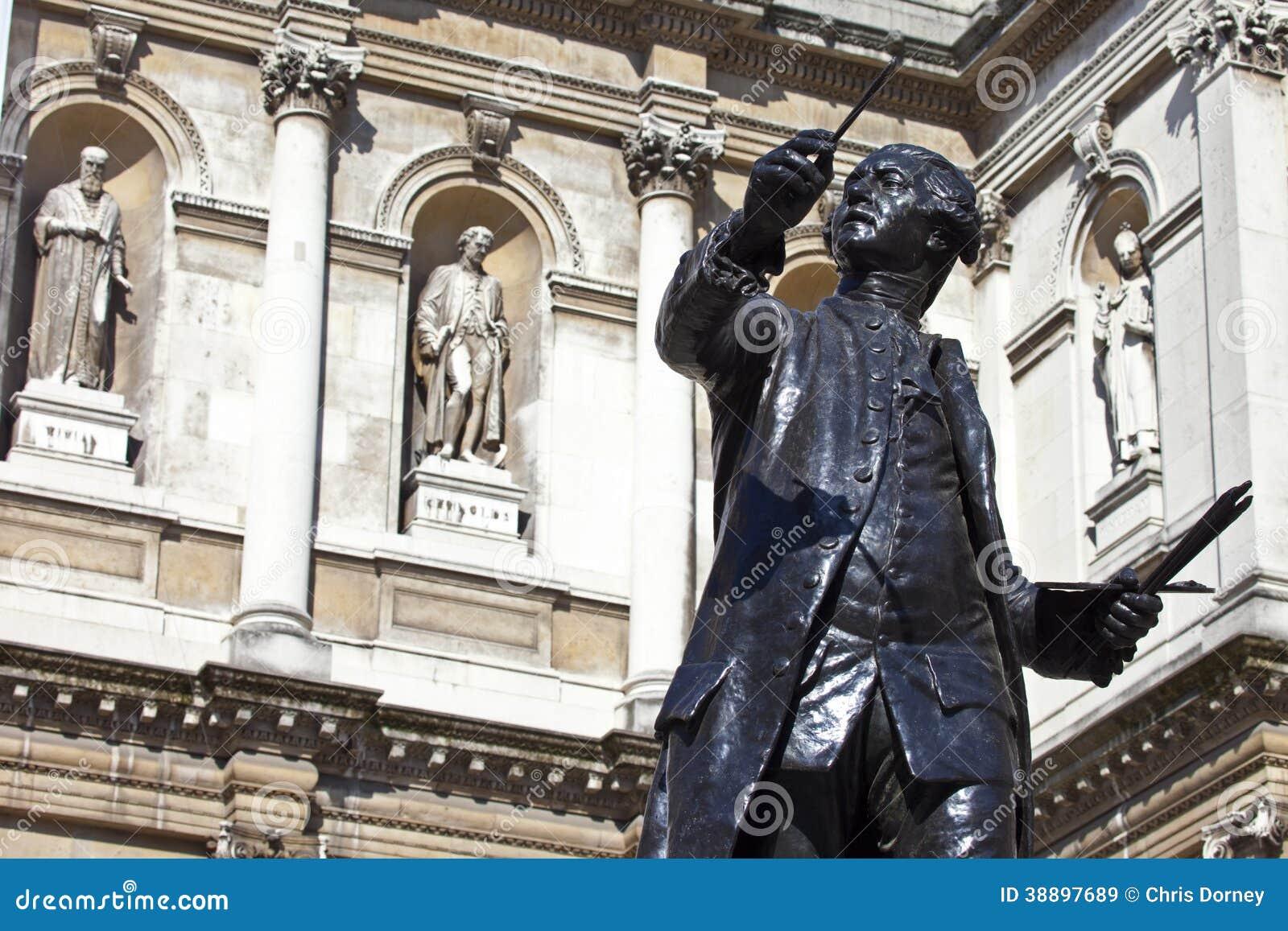 Joshua Reynolds Statue à la Chambre de Burlington