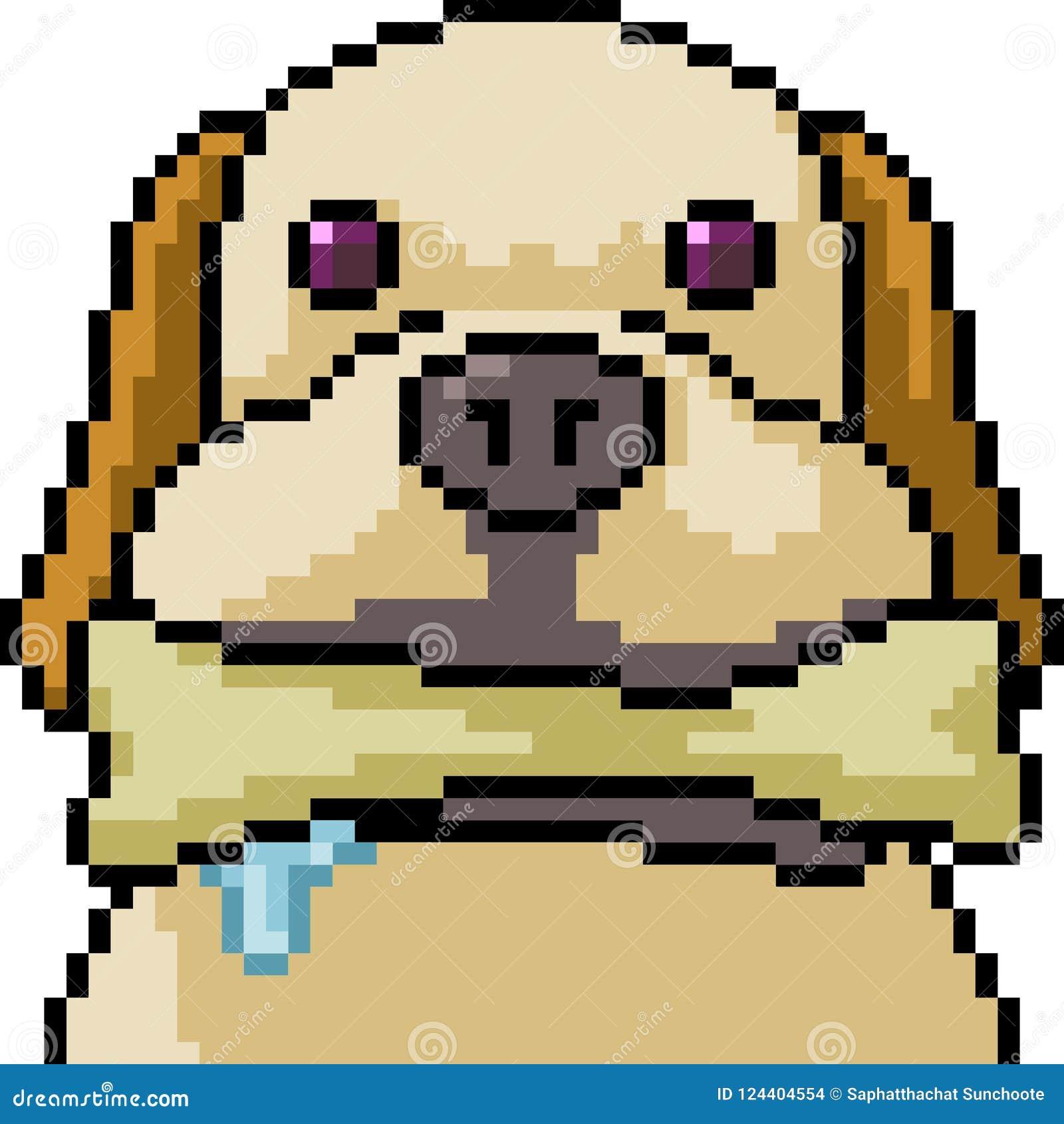 Jouer De Chien Dart De Pixel De Vecteur Illustration De