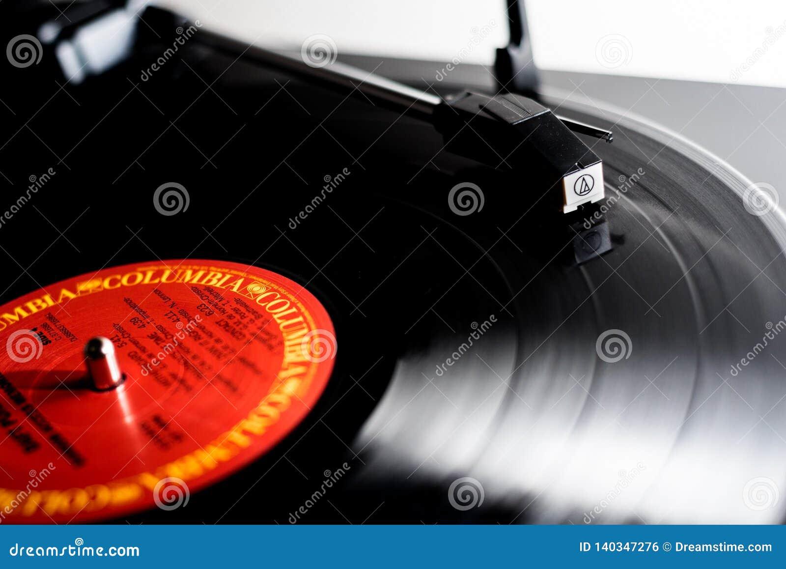 Jouer de disque vinyle
