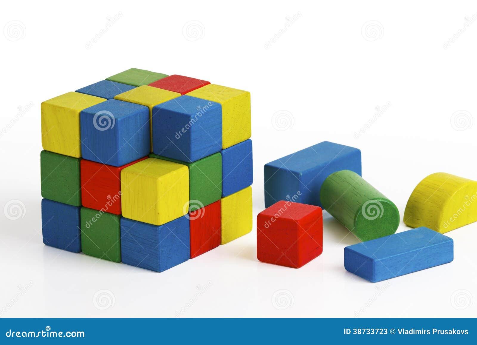 jouet de cube en casse t te blocs en bois multicolores photo stock ditorial image 38733723. Black Bedroom Furniture Sets. Home Design Ideas