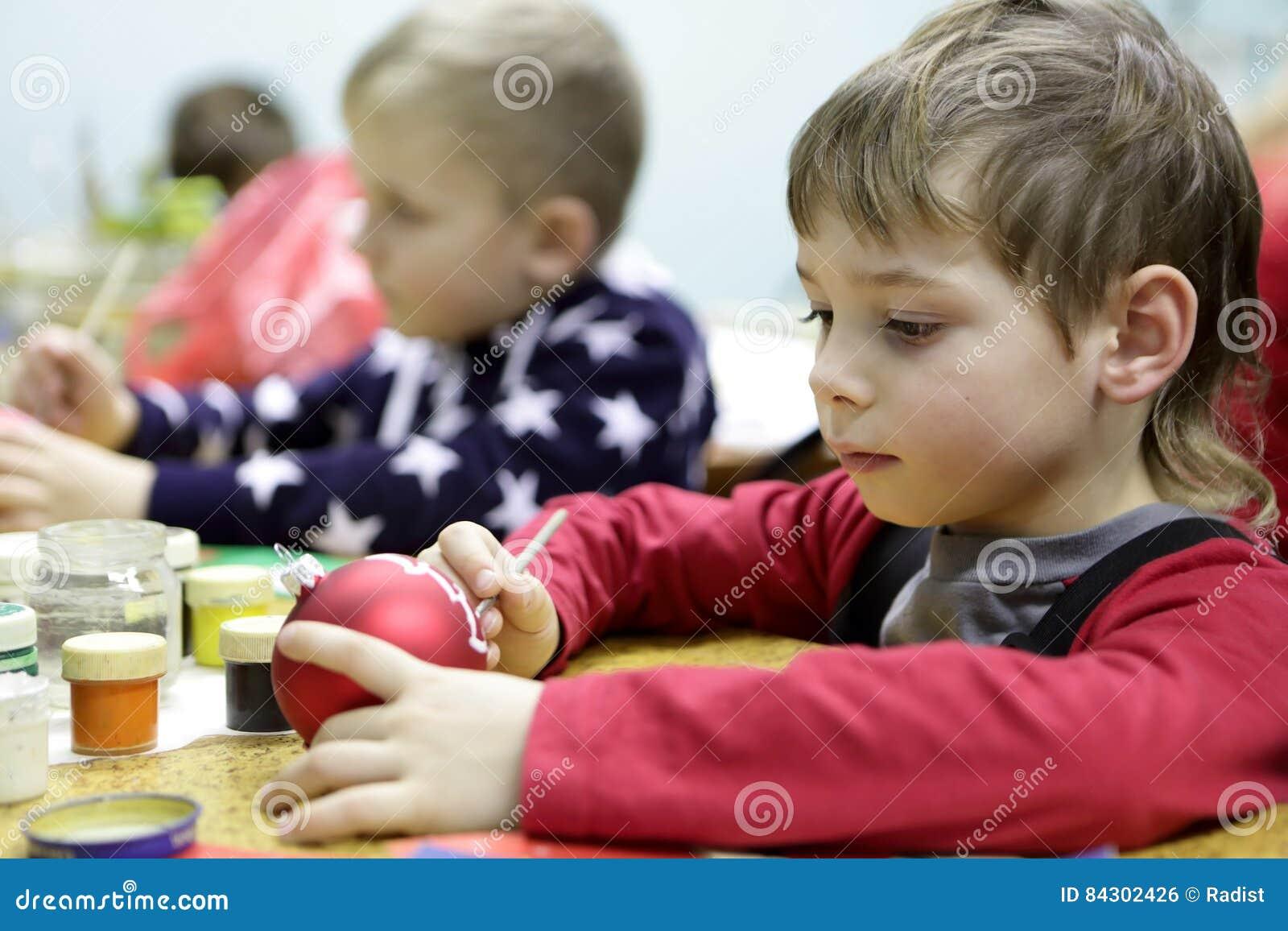 Jouet de Noël de peinture d enfant
