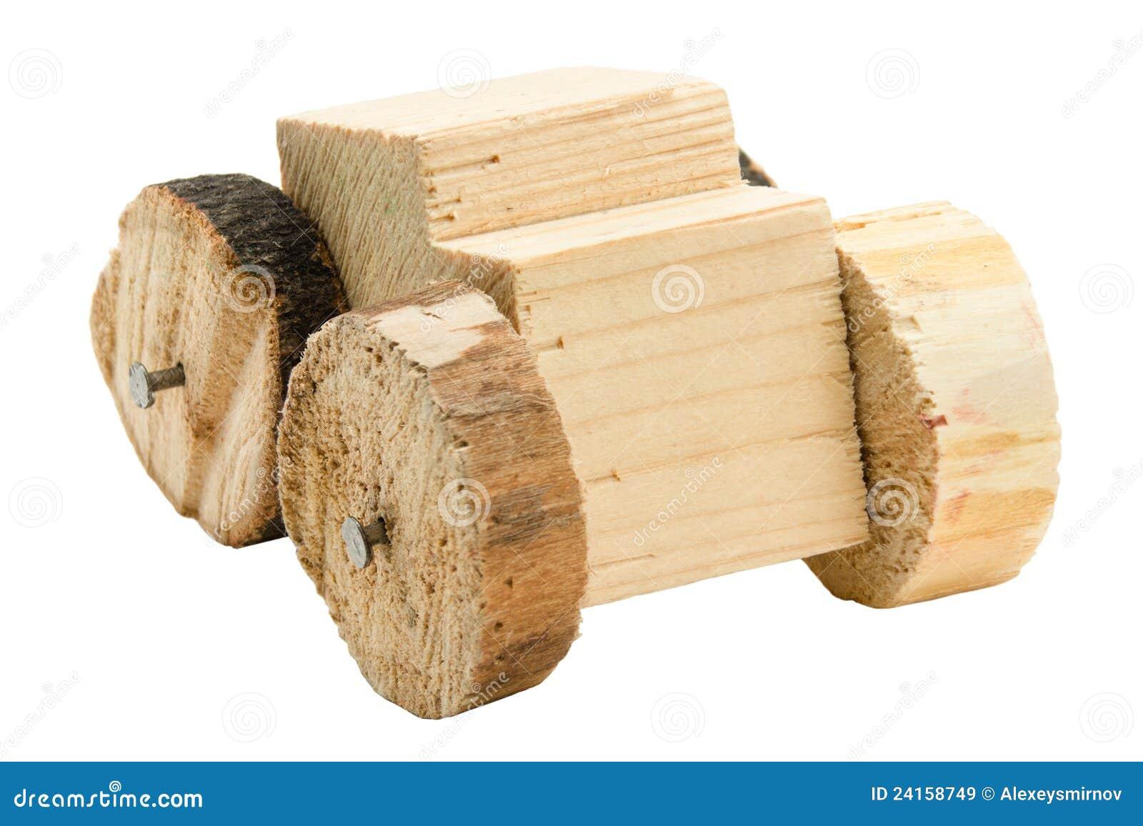 Jouet en bois fait maison de v hicule images libres de for Maison de jardin en bois jouet
