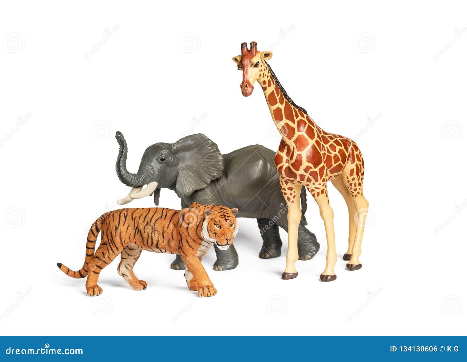 Animaux En Plastique Jouet jouets animaux d'africain sauvage de plastique d'isolement