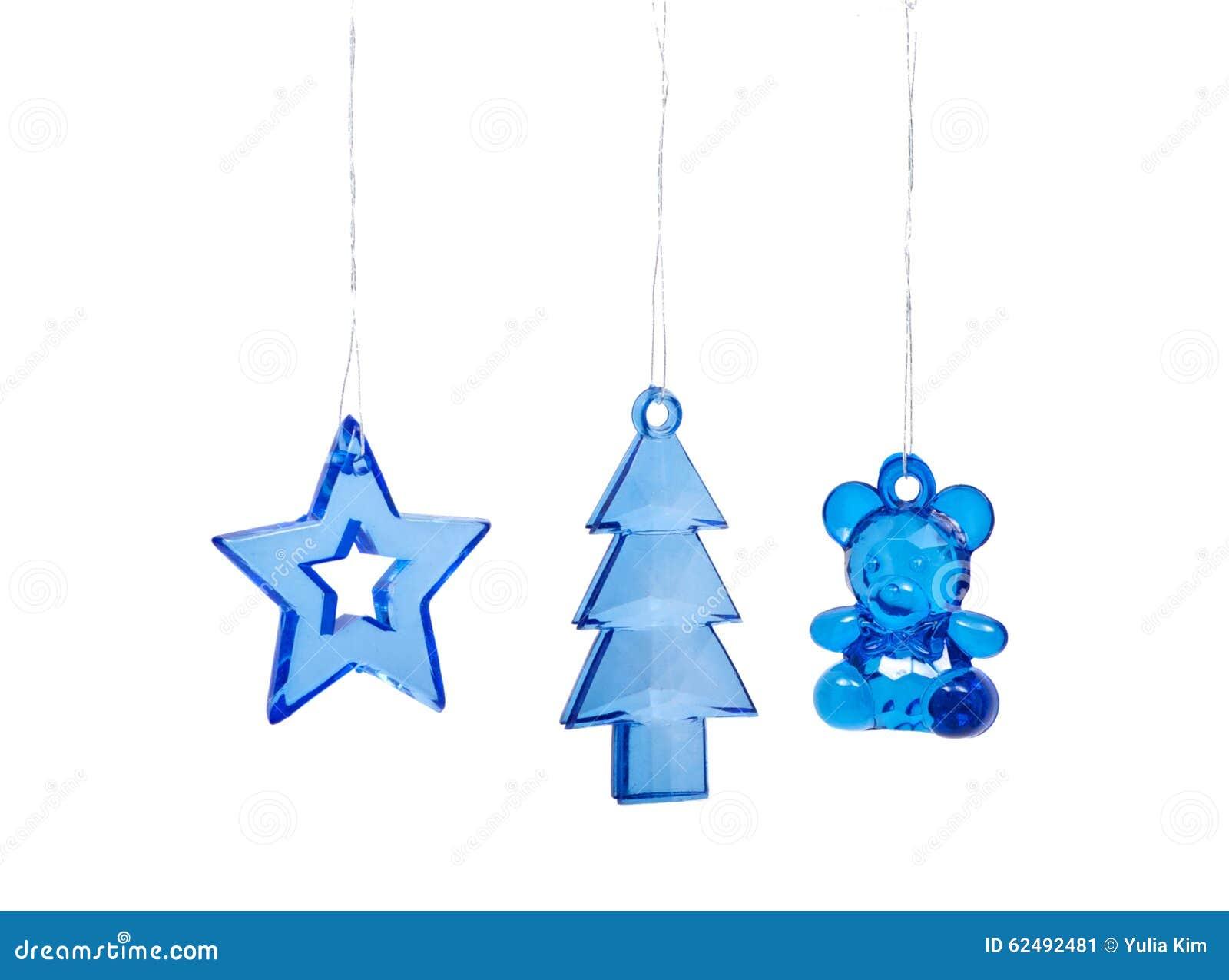 Jouets d arbre de Noël sur le fond blanc