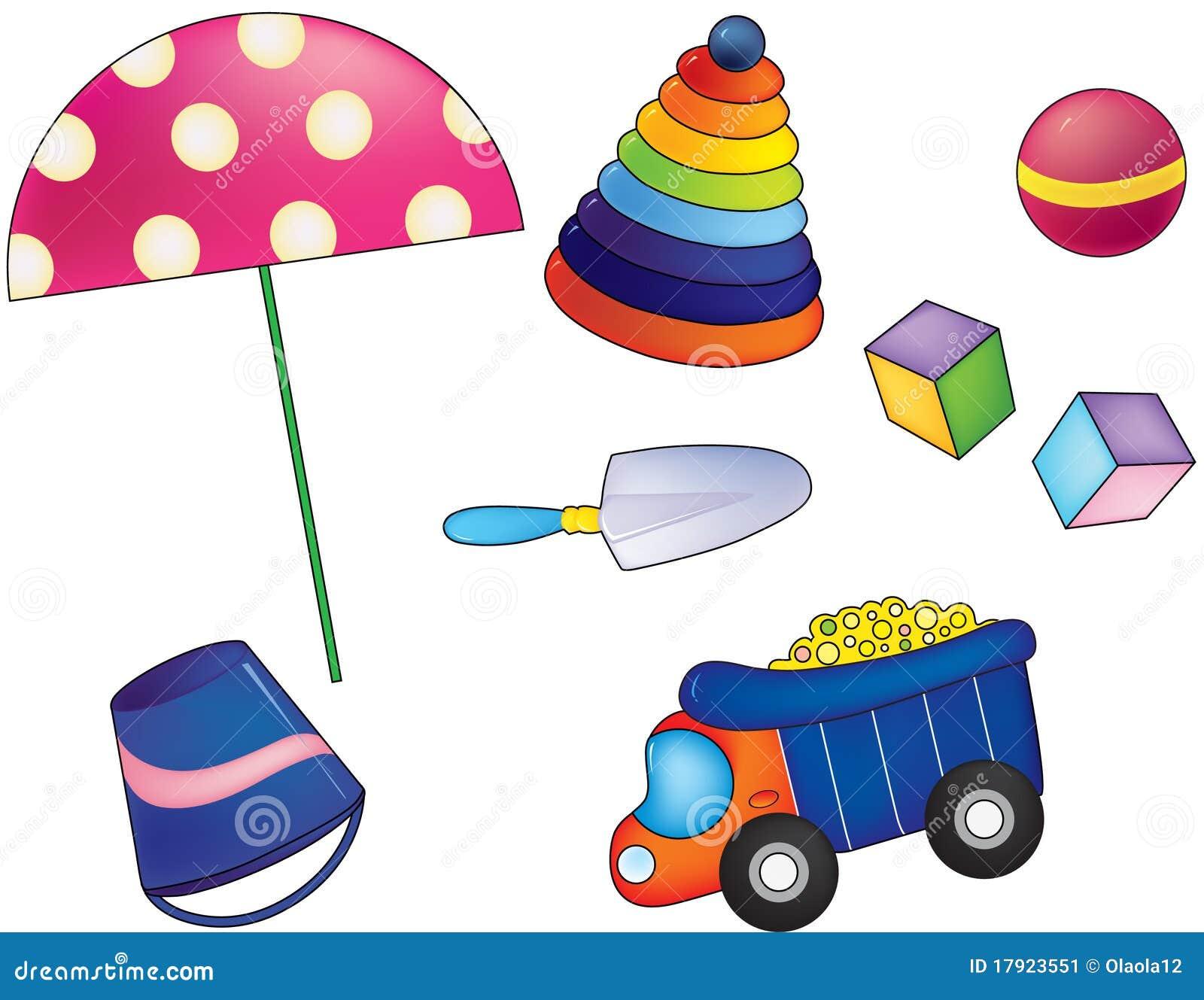 jouets d 39 enfants illustration de vecteur illustration du position 17923551. Black Bedroom Furniture Sets. Home Design Ideas