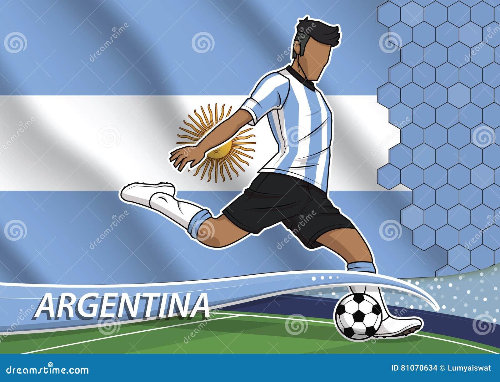Joueur d équipe du football en Argentine uniforme