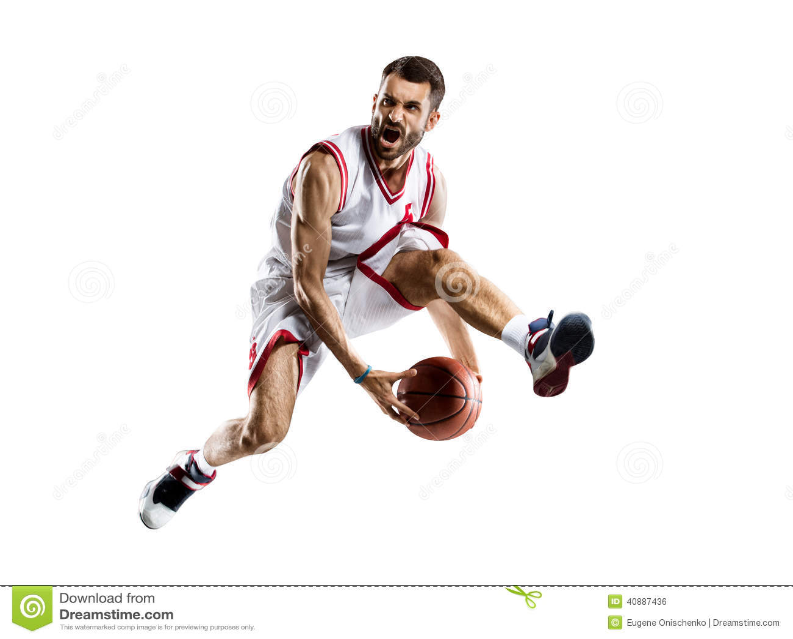 Joueur de basket dans l action