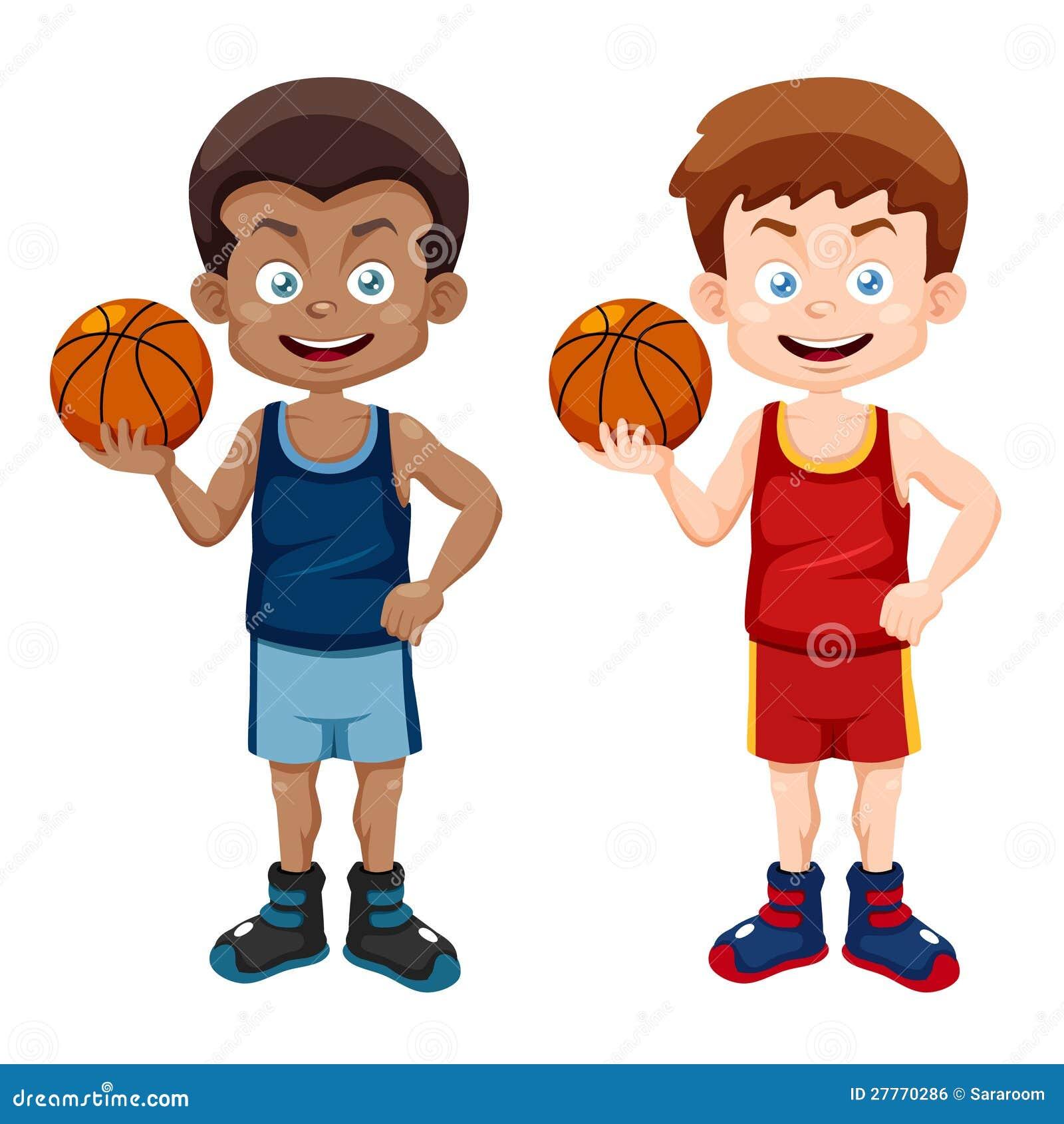 Joueur de basket de dessin animé