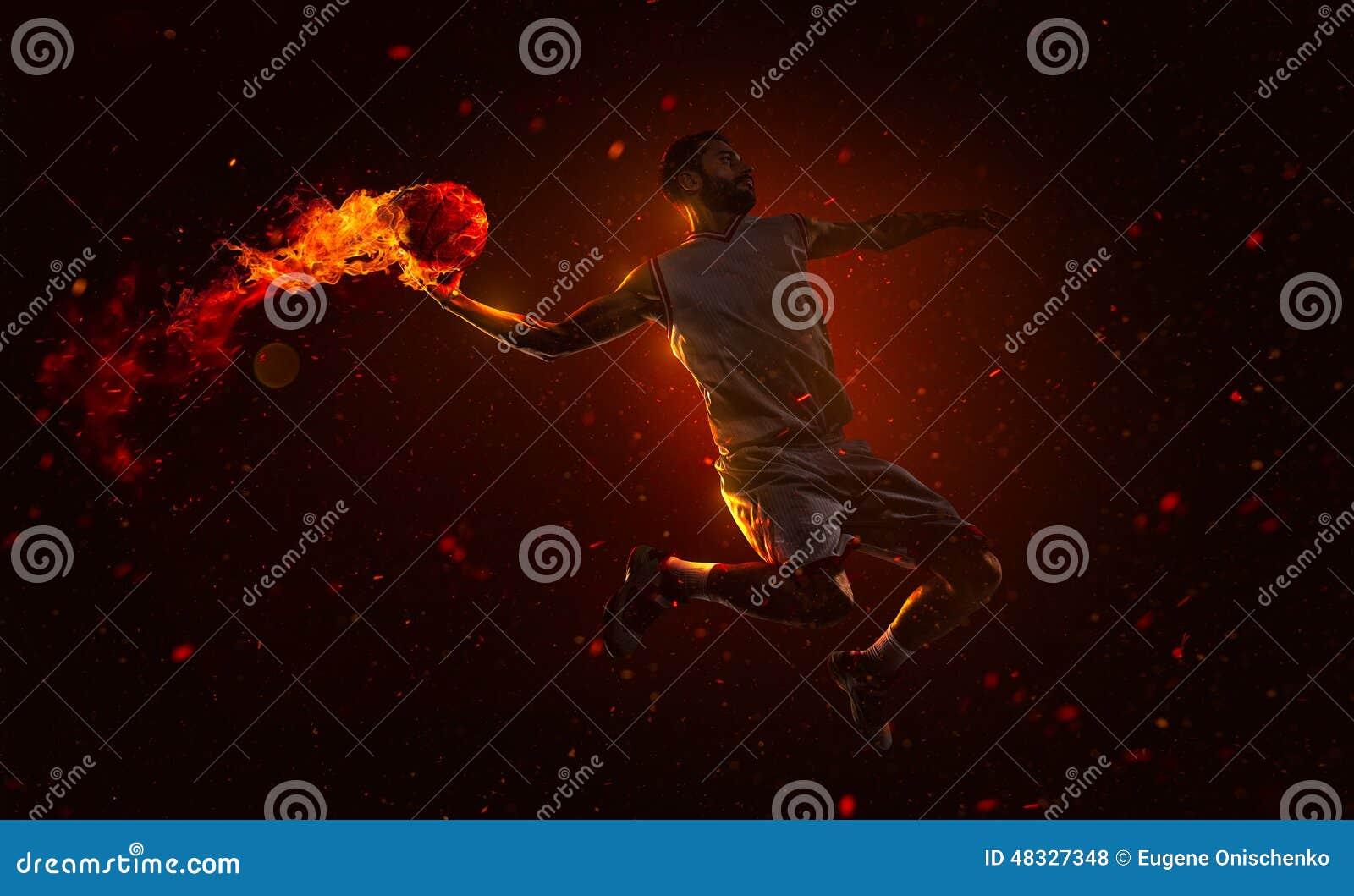 Joueur de basket professionnel avec l aérolithe