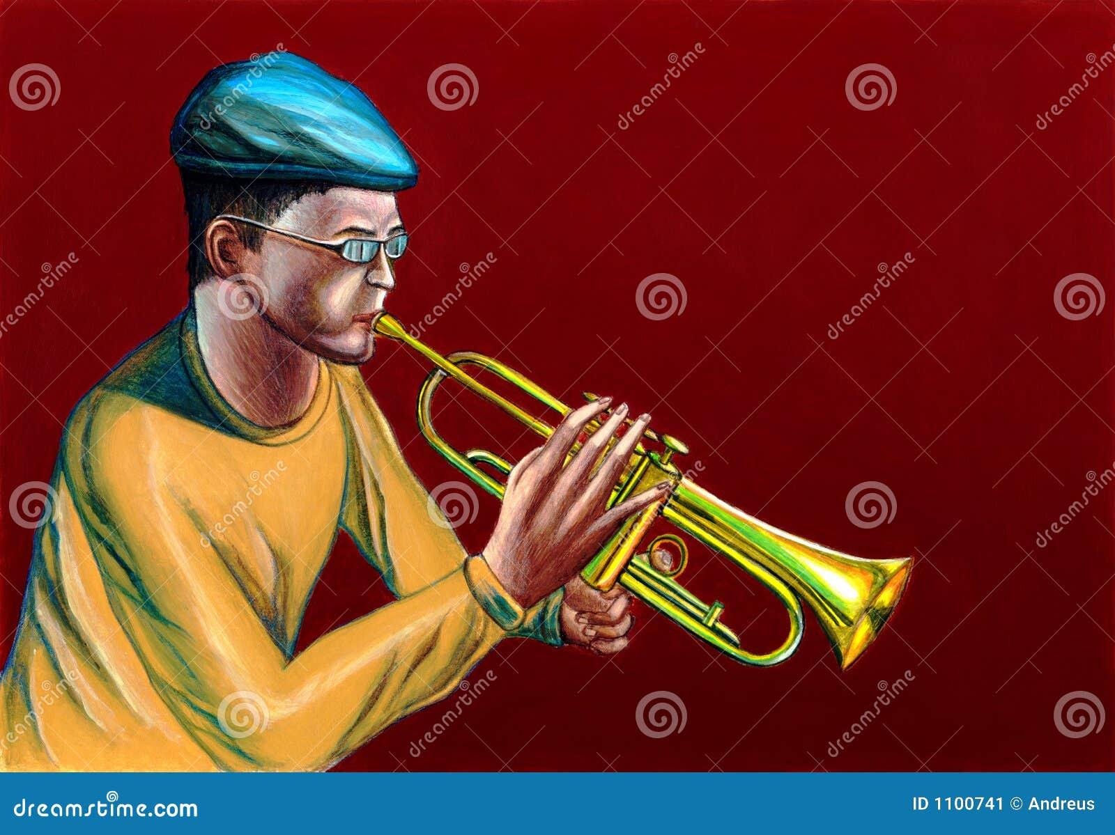 Joueur de trompette de jazz