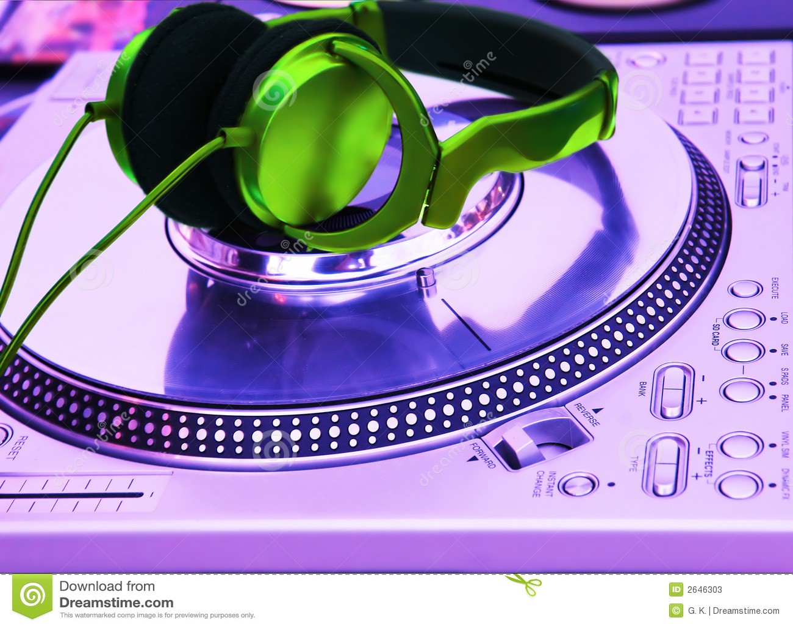 Joueur professionnel de vinyle du DJ