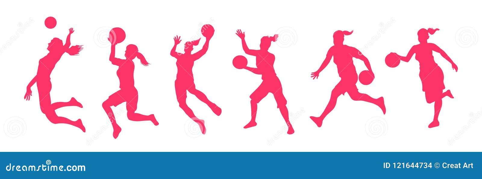 Joueurs de basket de femme
