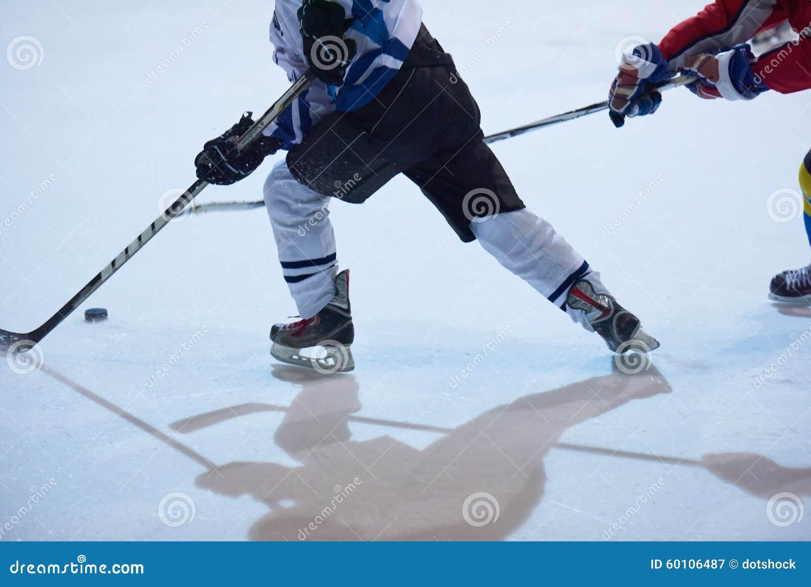 Joueurs de sport de hockey sur glace