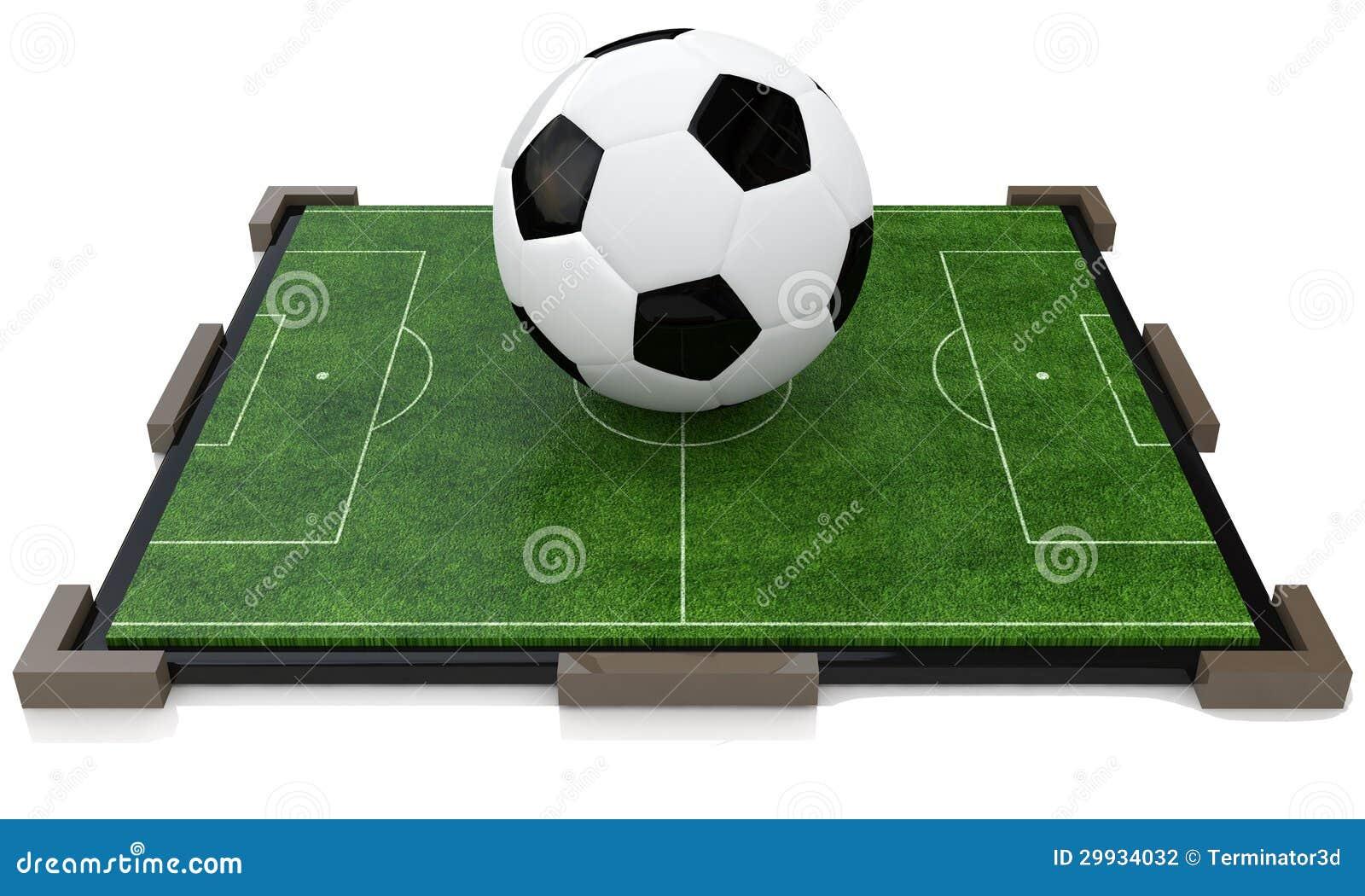 Terrain de football de jouet photographie stock image for Photographie de stock