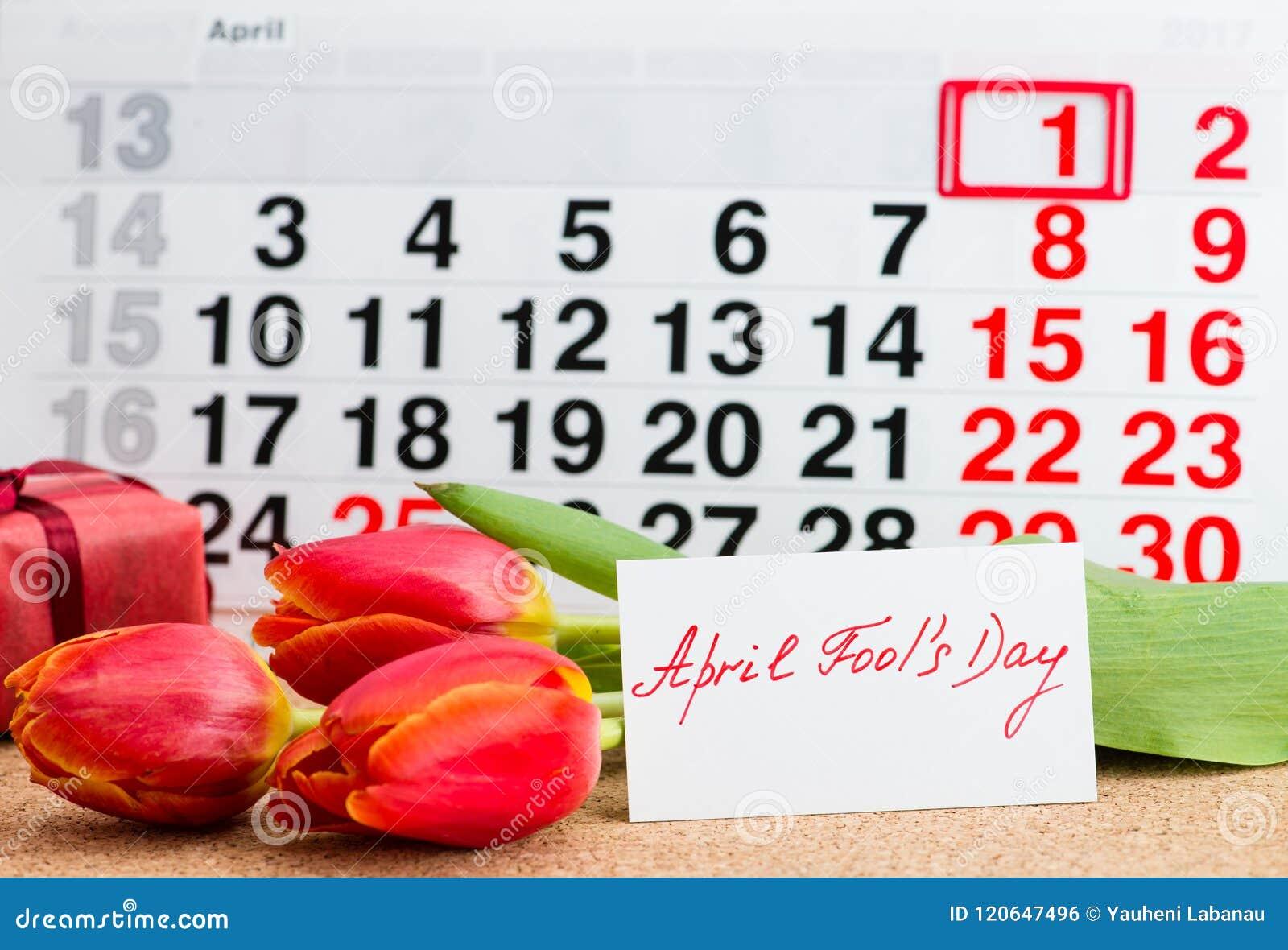 Jour d April Fools   sur le calendrier