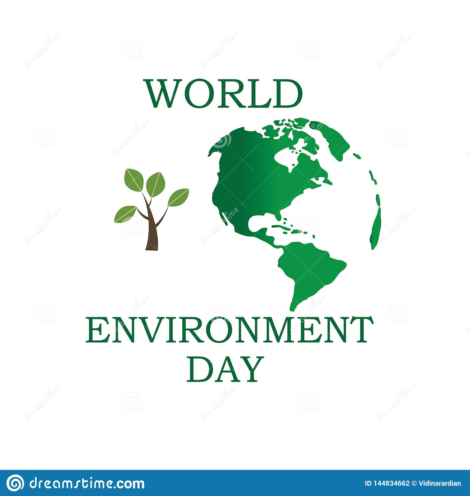 Jour d environnement du monde Concept de jour d environnement du monde La terre verte d Eco Illustration de vecteur de jour d env