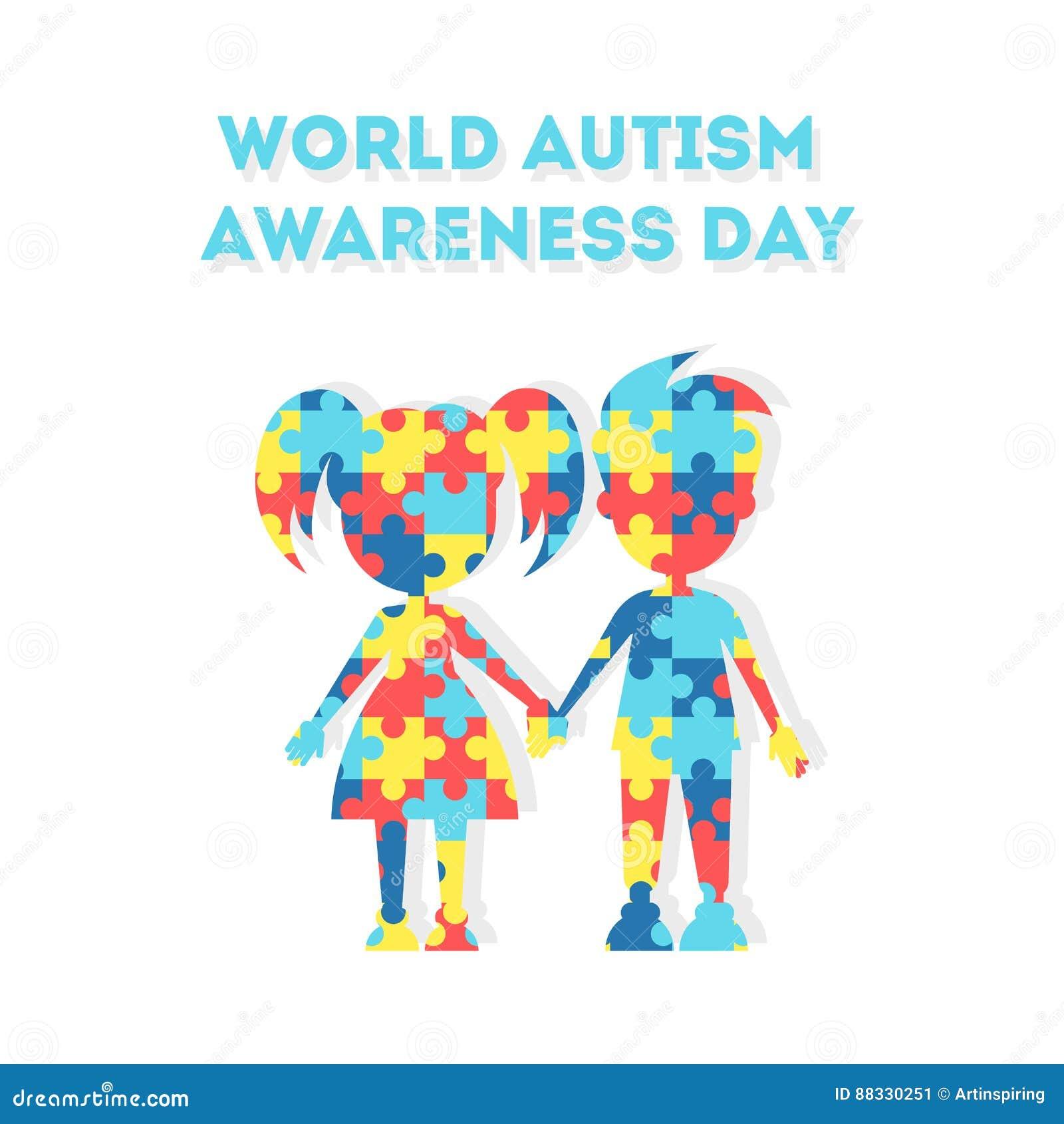 Jour de conscience d autisme du monde