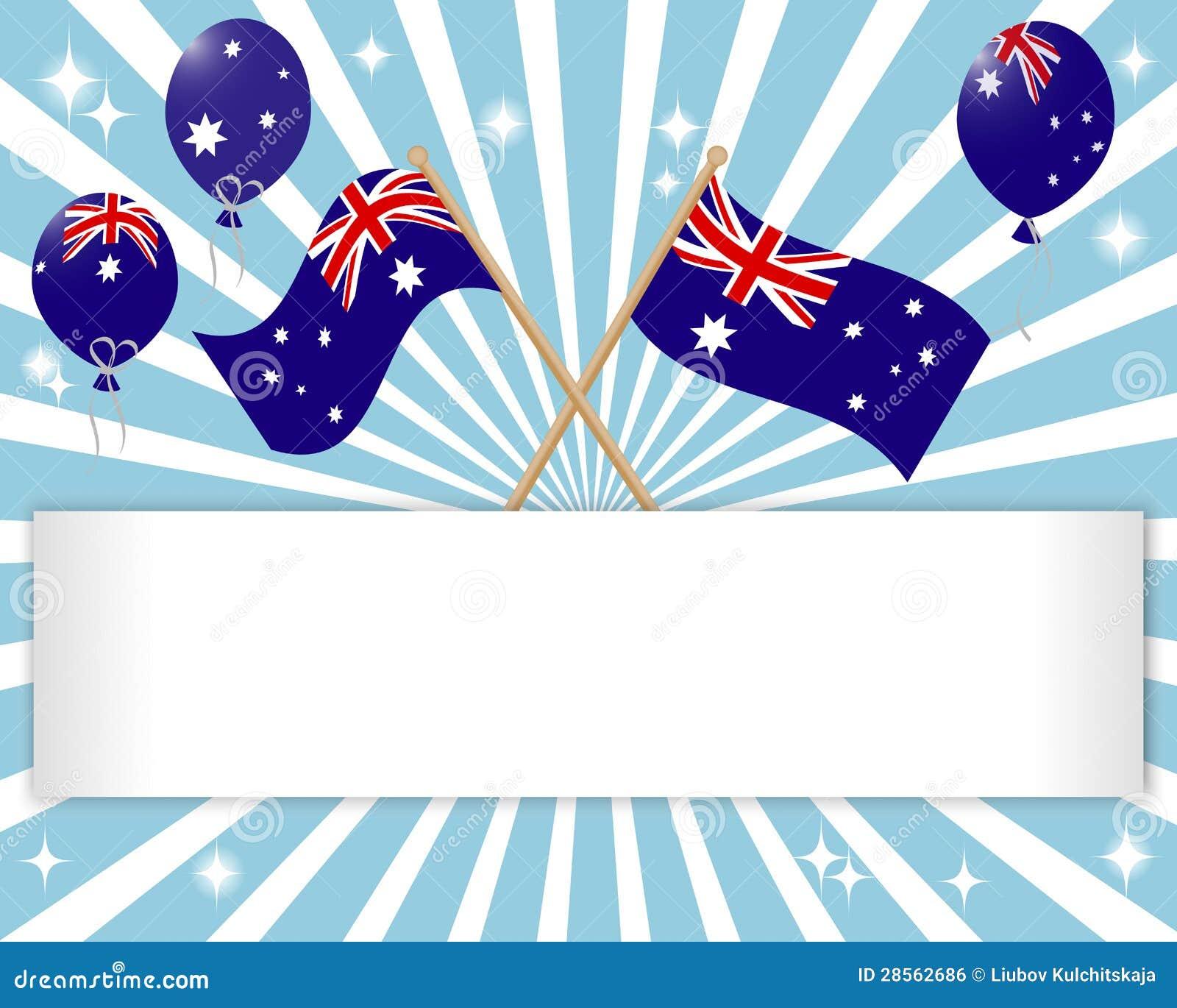 Jour de l Australie. Drapeau de fête.