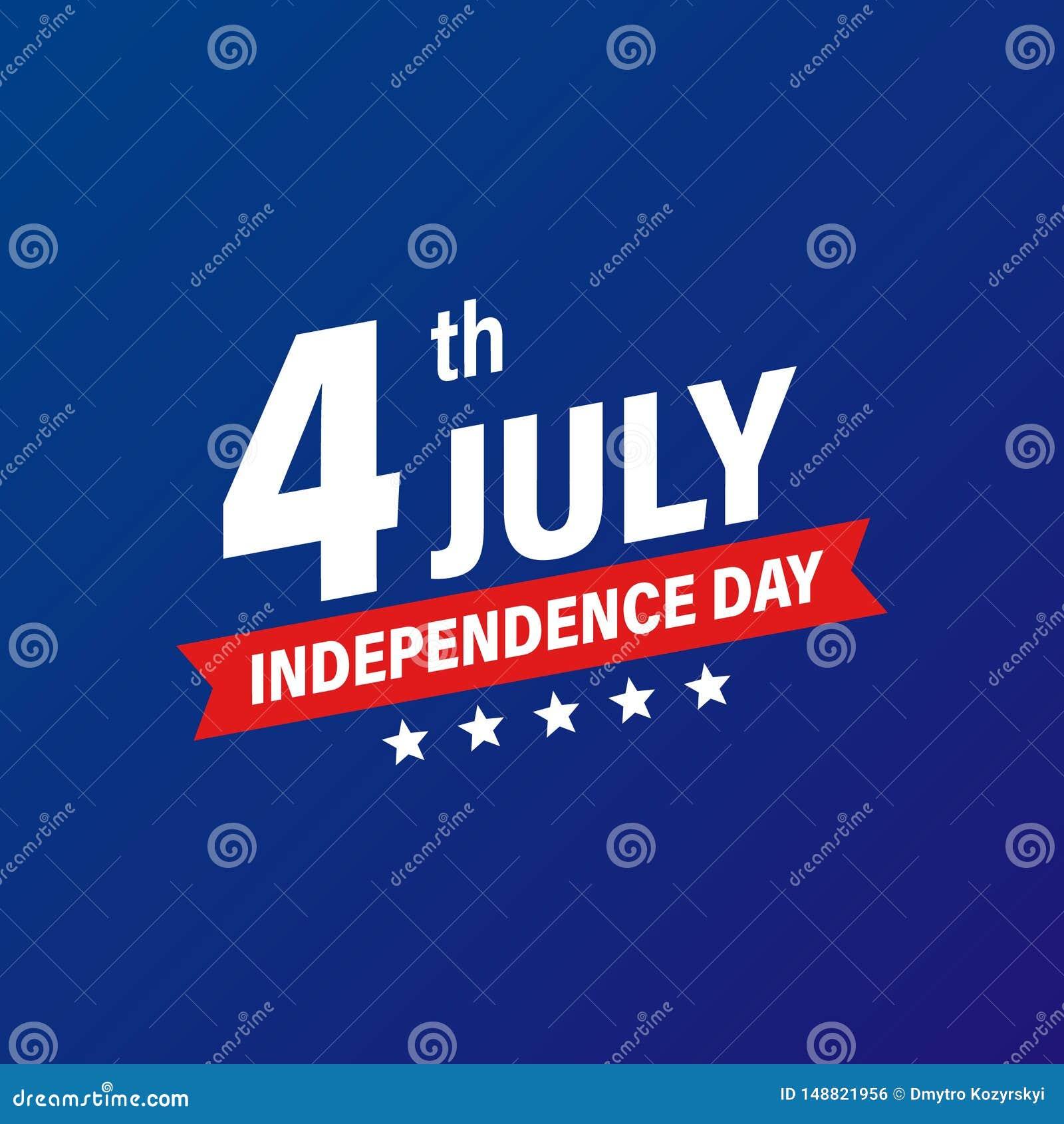 Jour de la Déclaration d Indépendance 4ème des Etats-Unis des vacances de juillet Indicateur des Etats-Unis d Am?rique Banni?re h