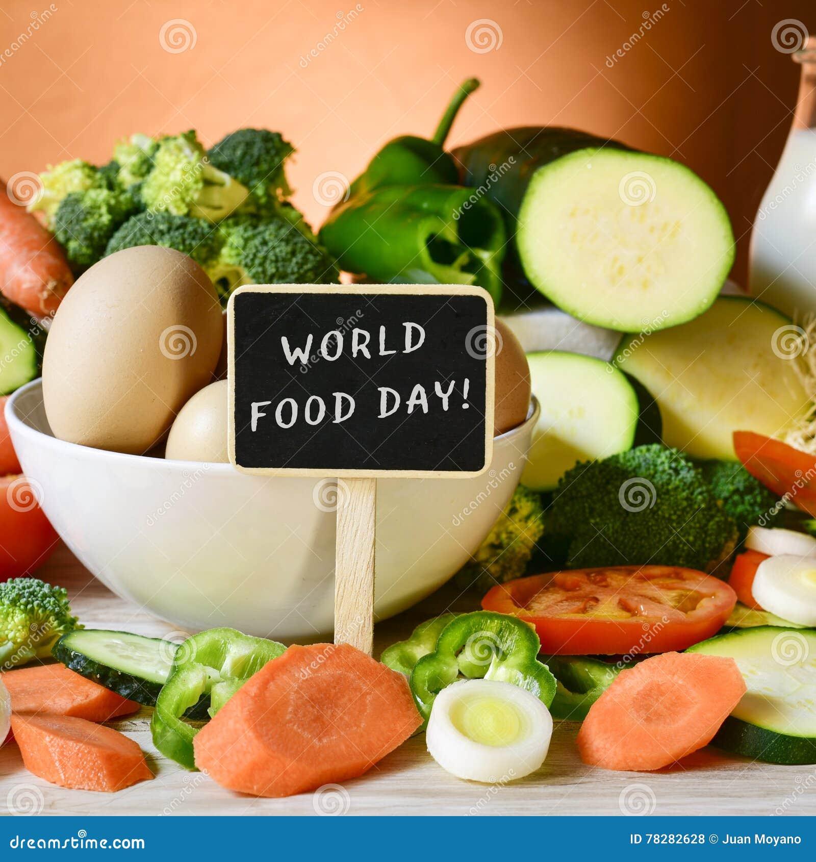 Jour de nourriture et de nourriture des textes