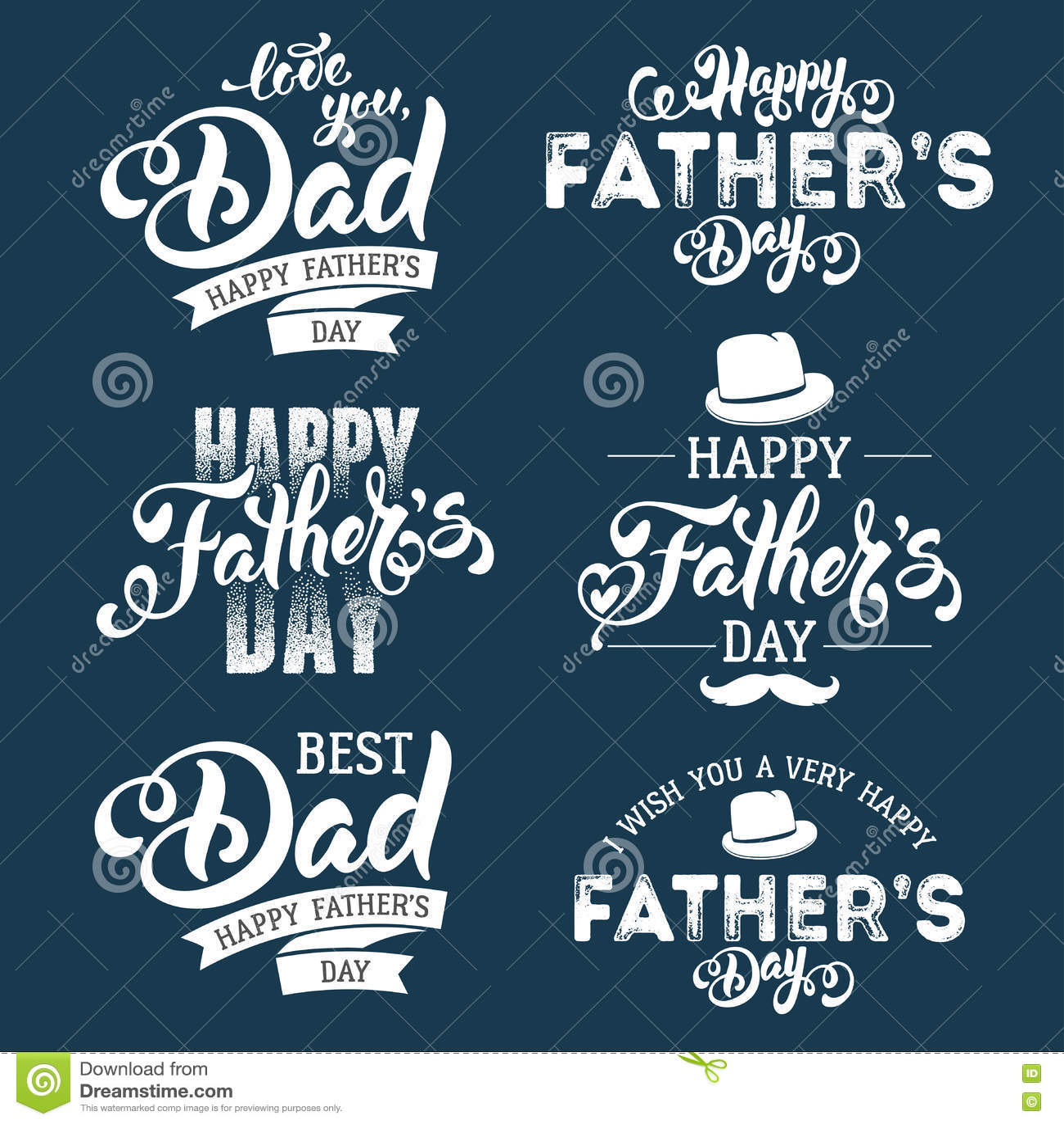 Jour de pères heureux