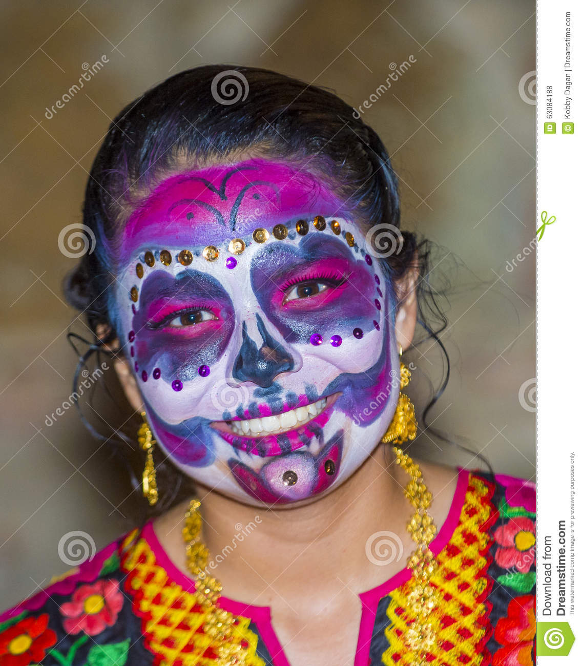 Download Jour des morts photo stock éditorial. Image du visage - 63084188