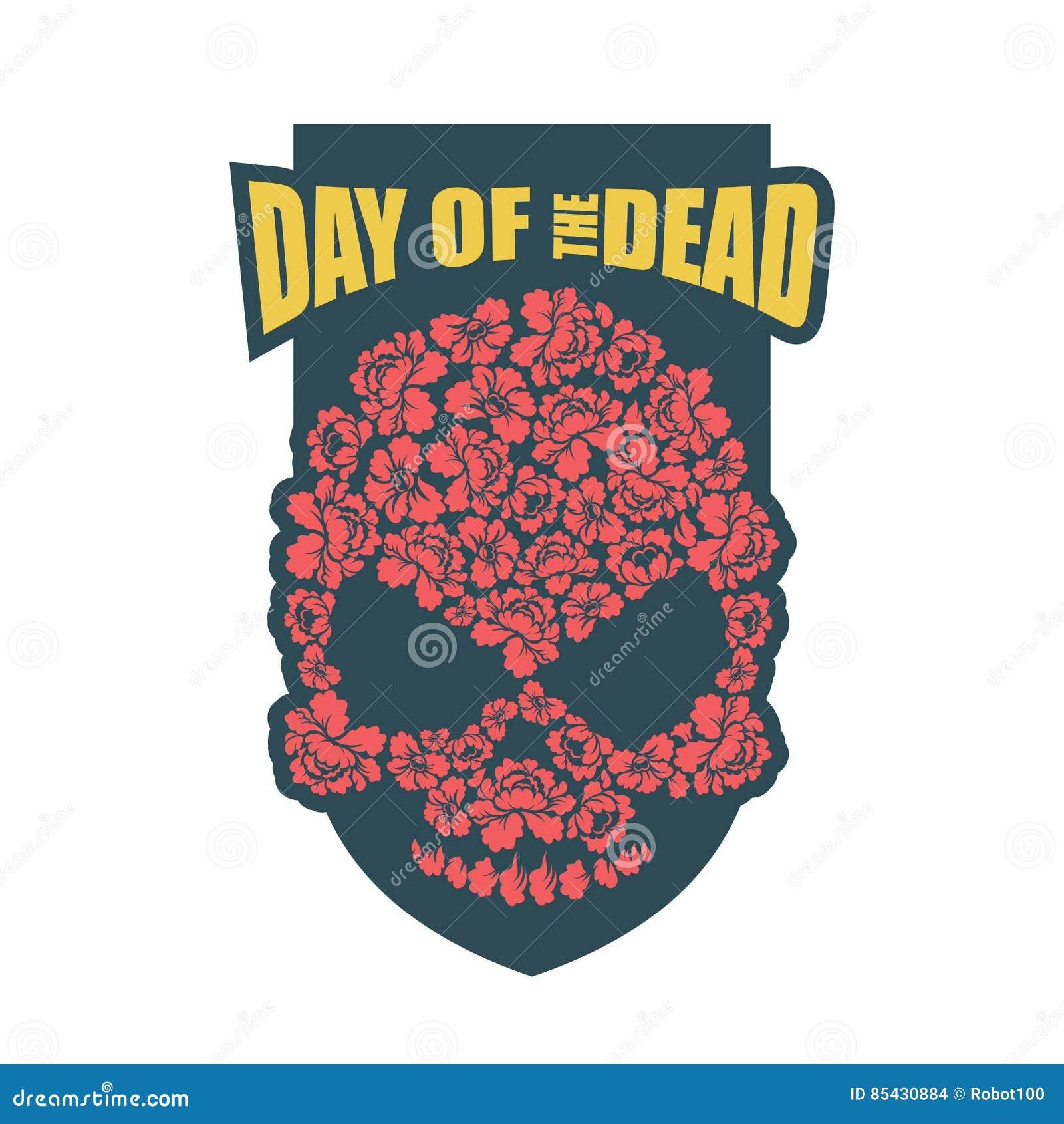jour des morts crâne de fleur religi traditionnel de vacances du