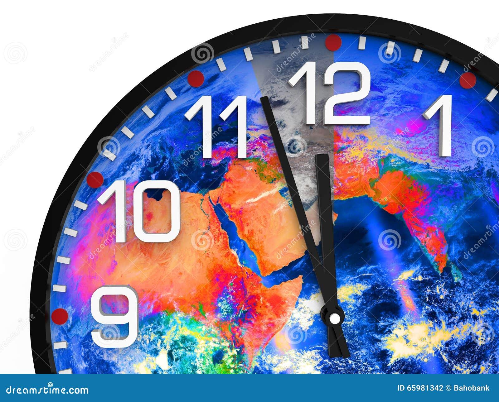 Jour du Jugement dernier 23 de temps du monde 57 heures/éléments de cette image meublés par la NASA