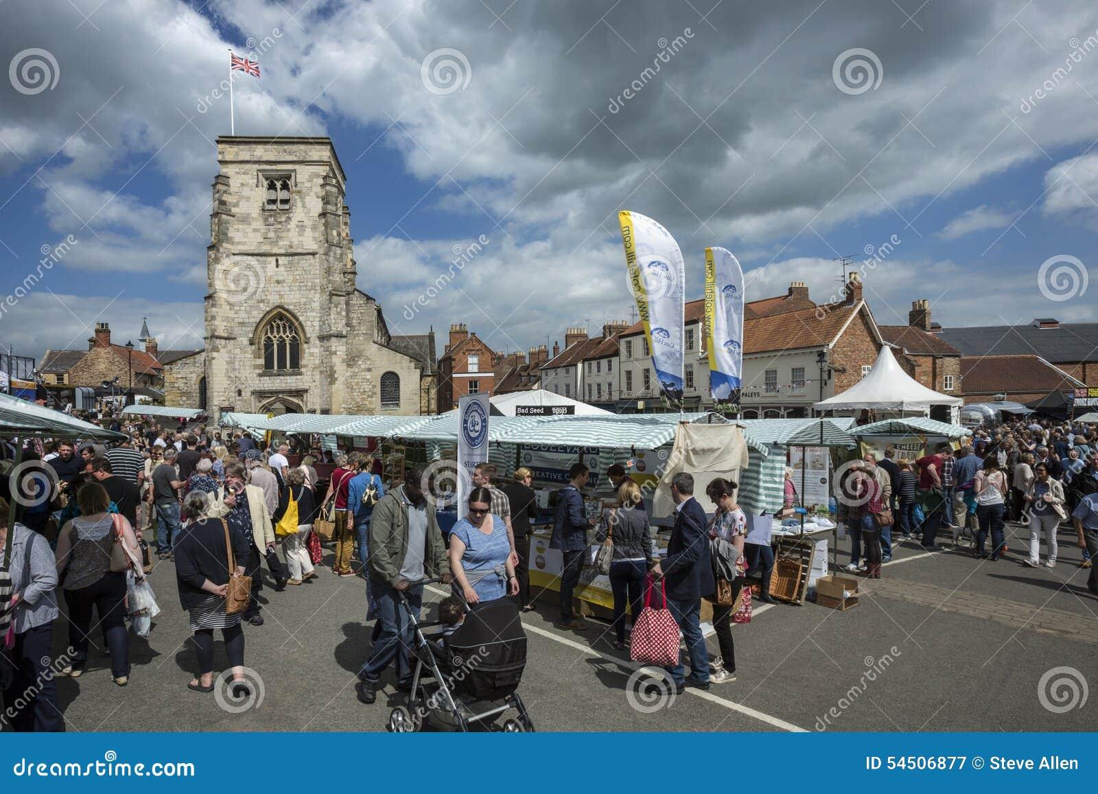Jour du marché - Malton - Yorkshire - Angleterre
