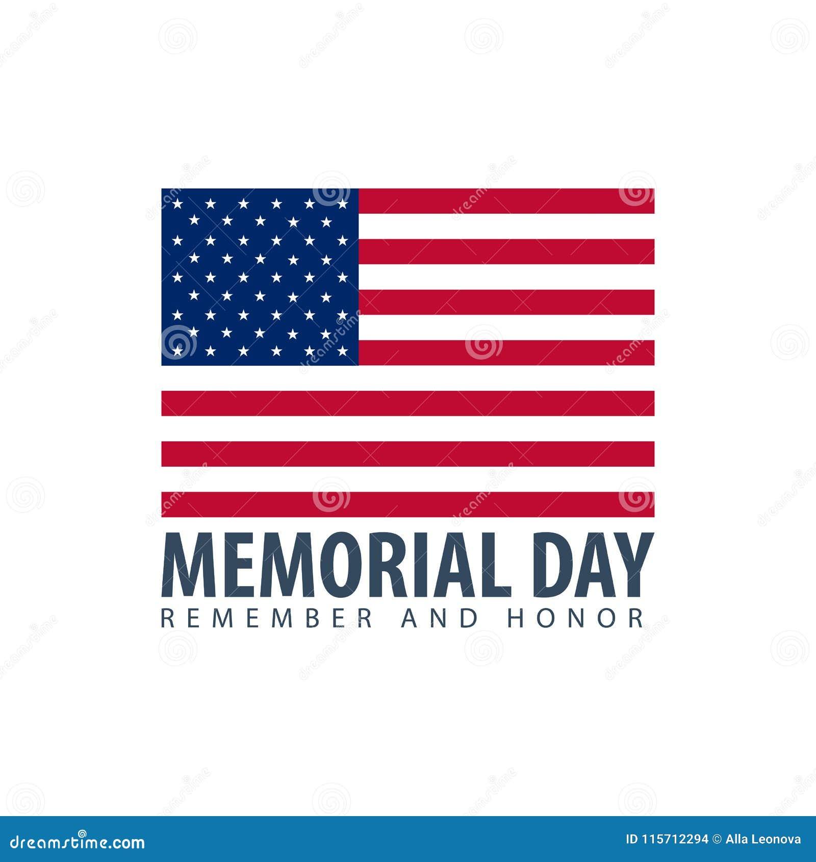 Jour du Souvenir Rappelez-vous et honorez LES Etats-Unis Indicateur américain