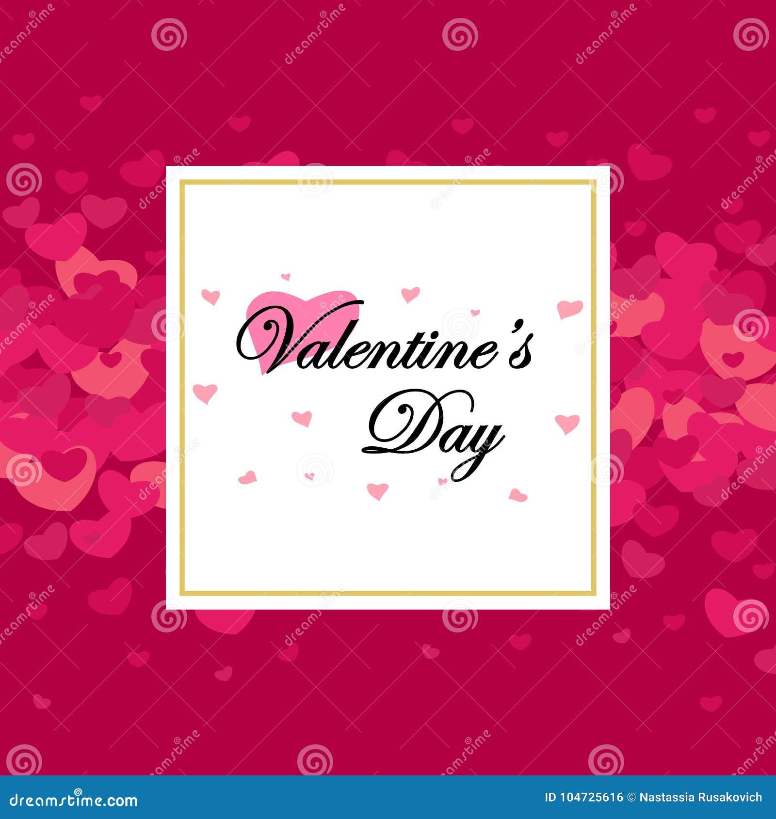 Jour et cartes de valentines heureux