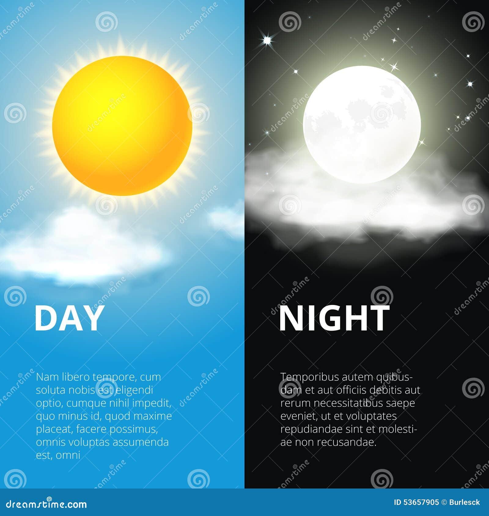 jour et nuit lune du soleil illustration de vecteur image 53657905. Black Bedroom Furniture Sets. Home Design Ideas