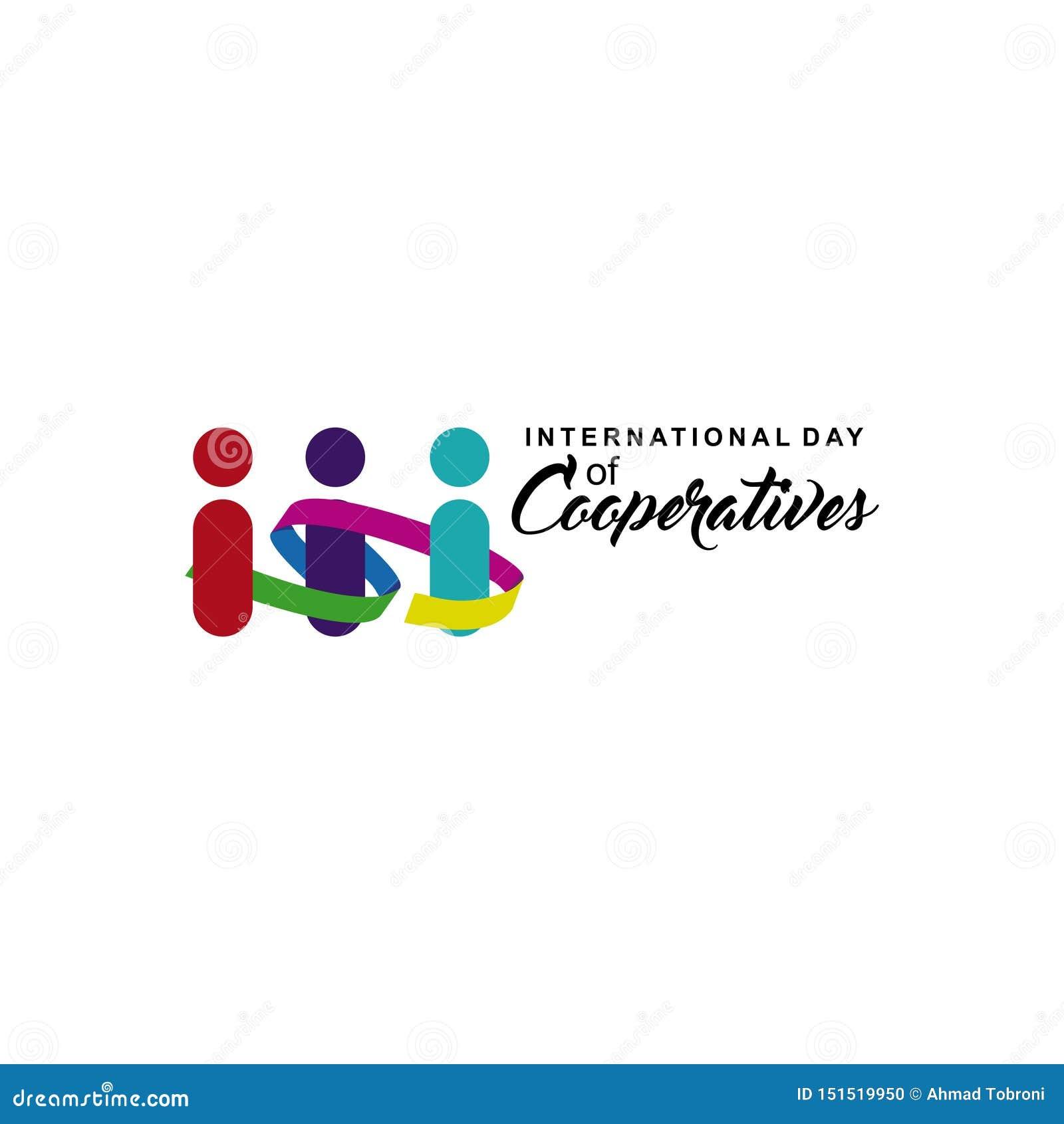 Jour international d illustration de conception de calibre de vecteur de célébration de coopératives