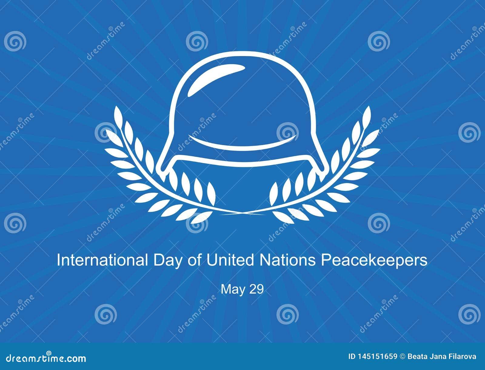 Jour international de vecteur de soldats de la paix des Nations Unies
