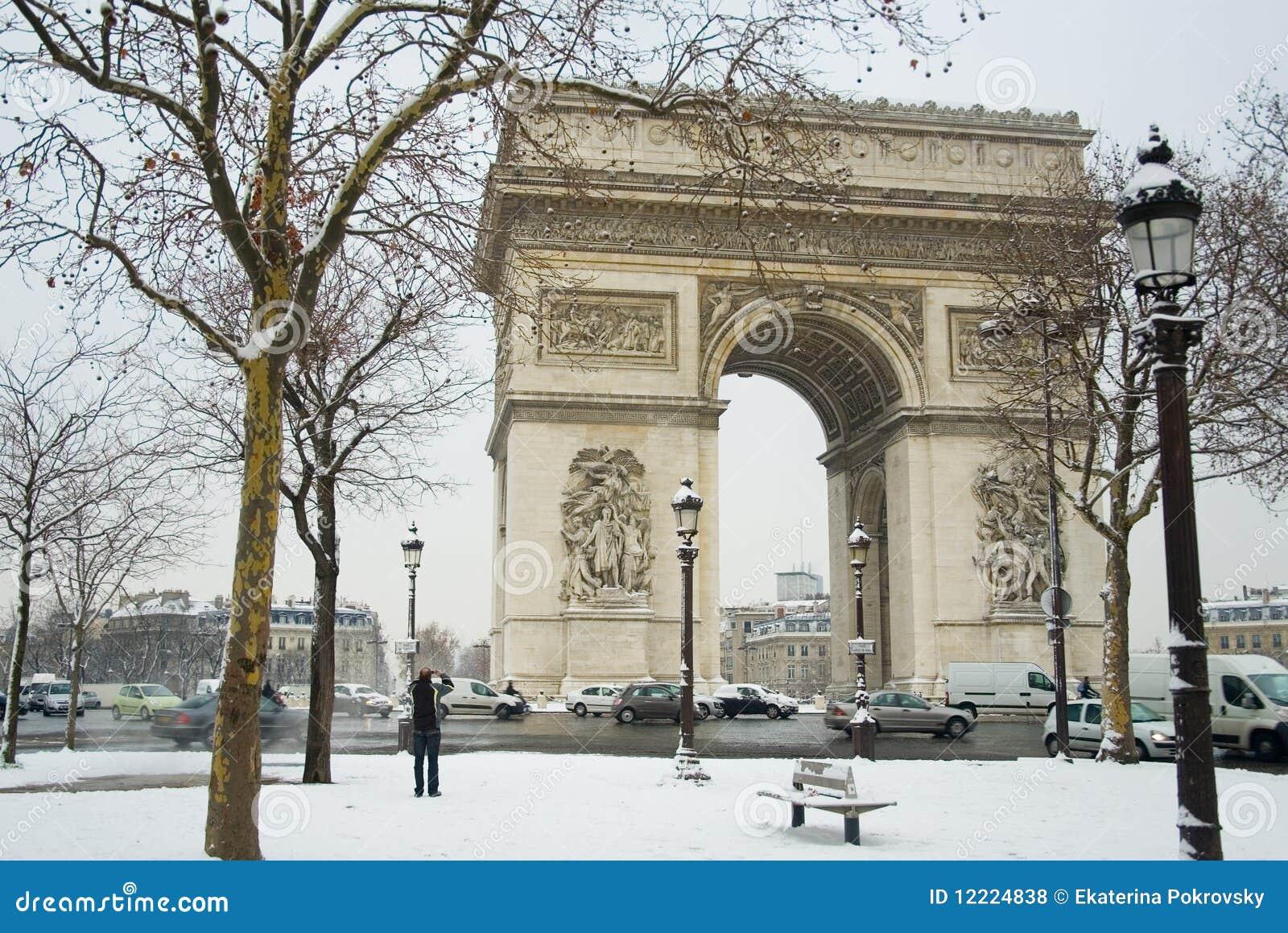 Jour neigeux rare à Paris