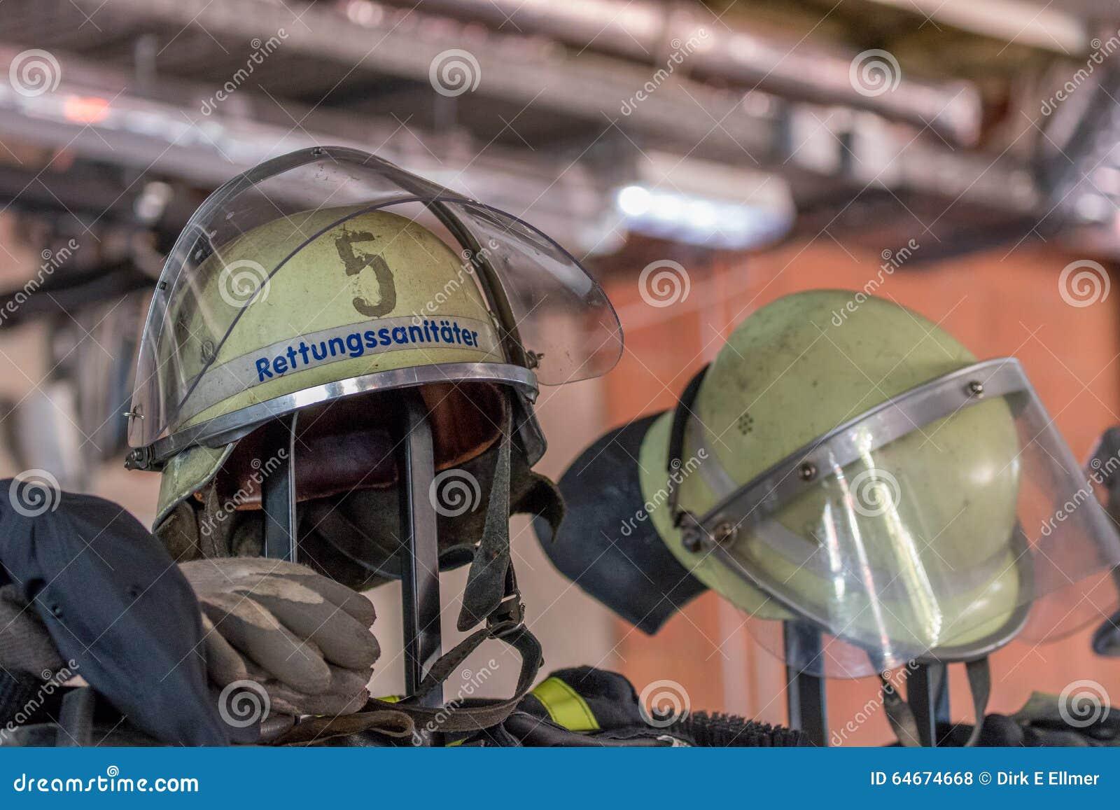 Journée  portes ouvertes  des sapeurs-pompiers allemands à Bayreuth (Bavière)
