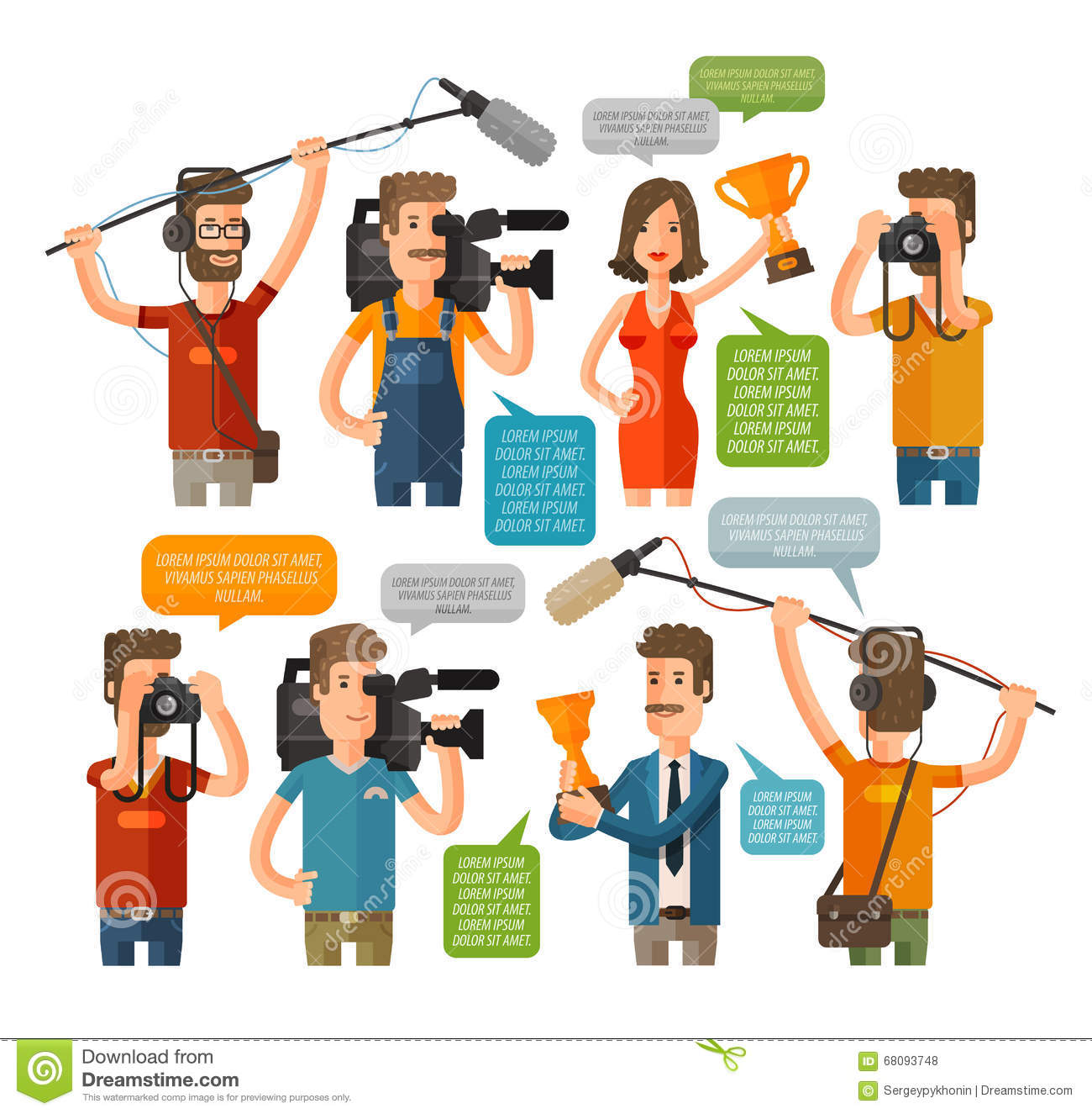 17 Best Images About Fashion Monitor Journalism Awards: Journalism Concept Vector Illustration In Flat Style. Hot