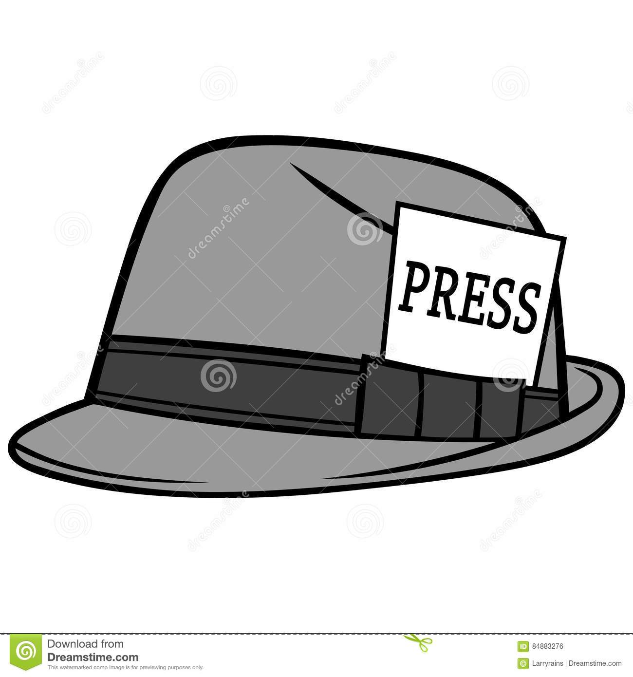 Journalist Hat Illustration