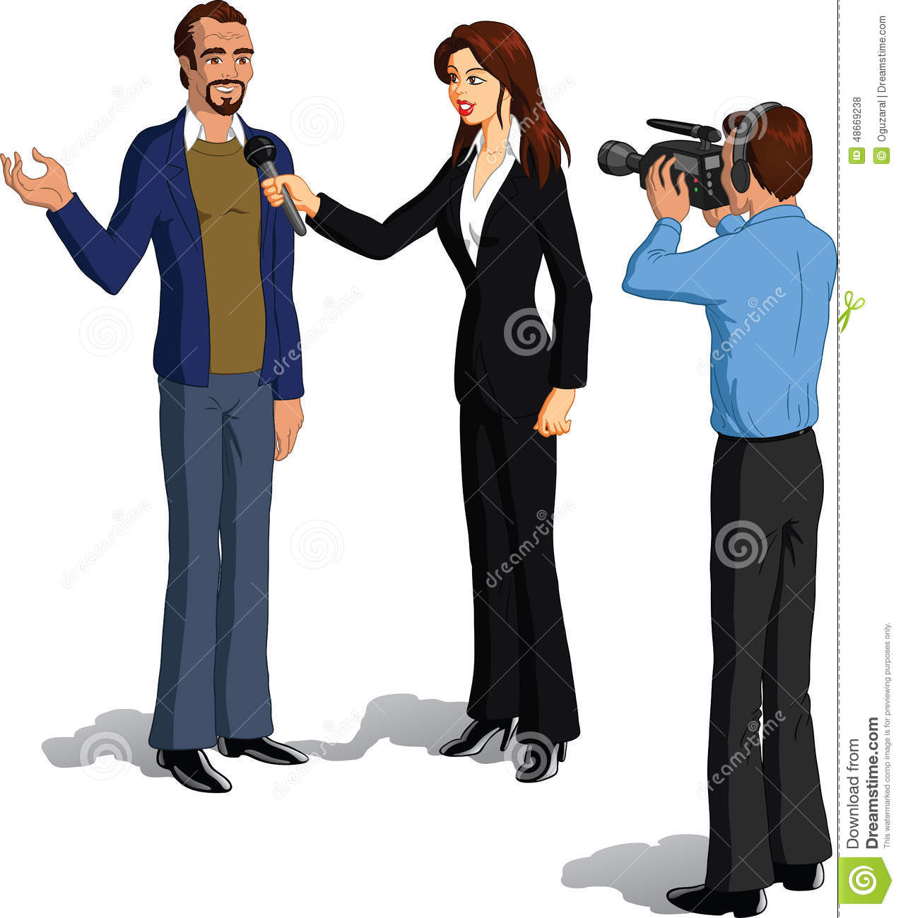 interviewing stock illustrations interviewing stock journalist interviewing a man royalty stock photos