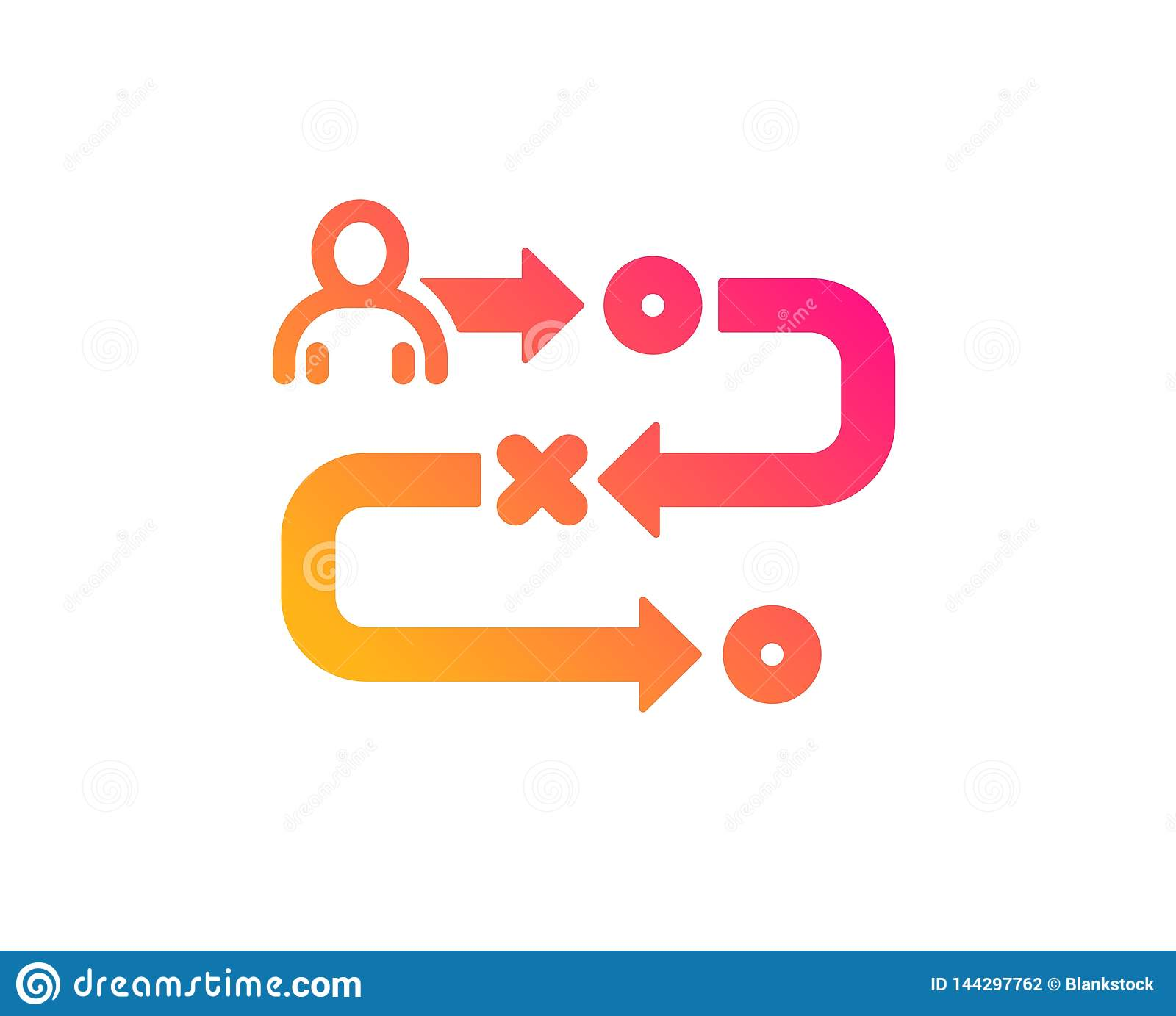 Journey Path Icon. Project Process Sign. Vector Stock ...
