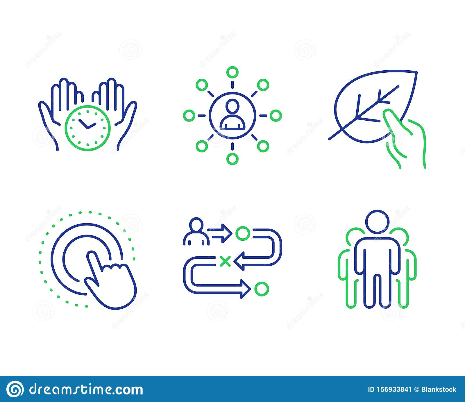 Journey Path, Networking And Click Hand Icons Set. Organic ...