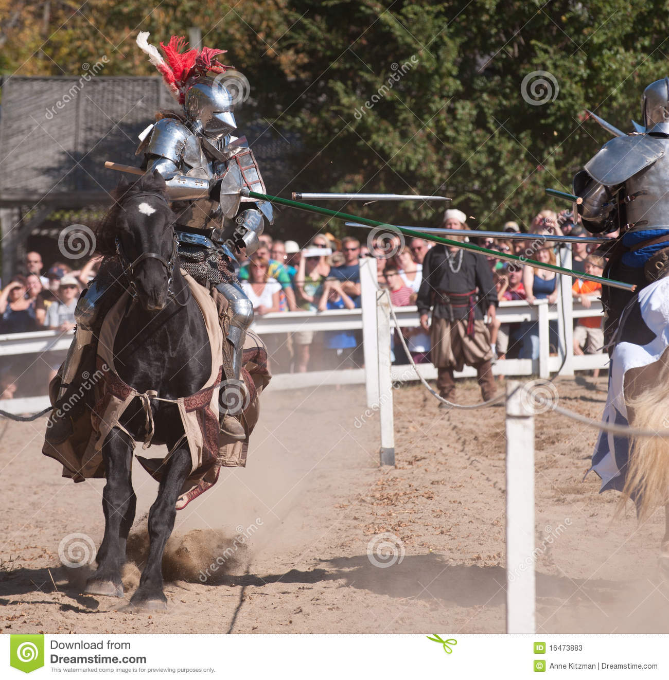 Jousters Shane Adams y Jason Armstrong