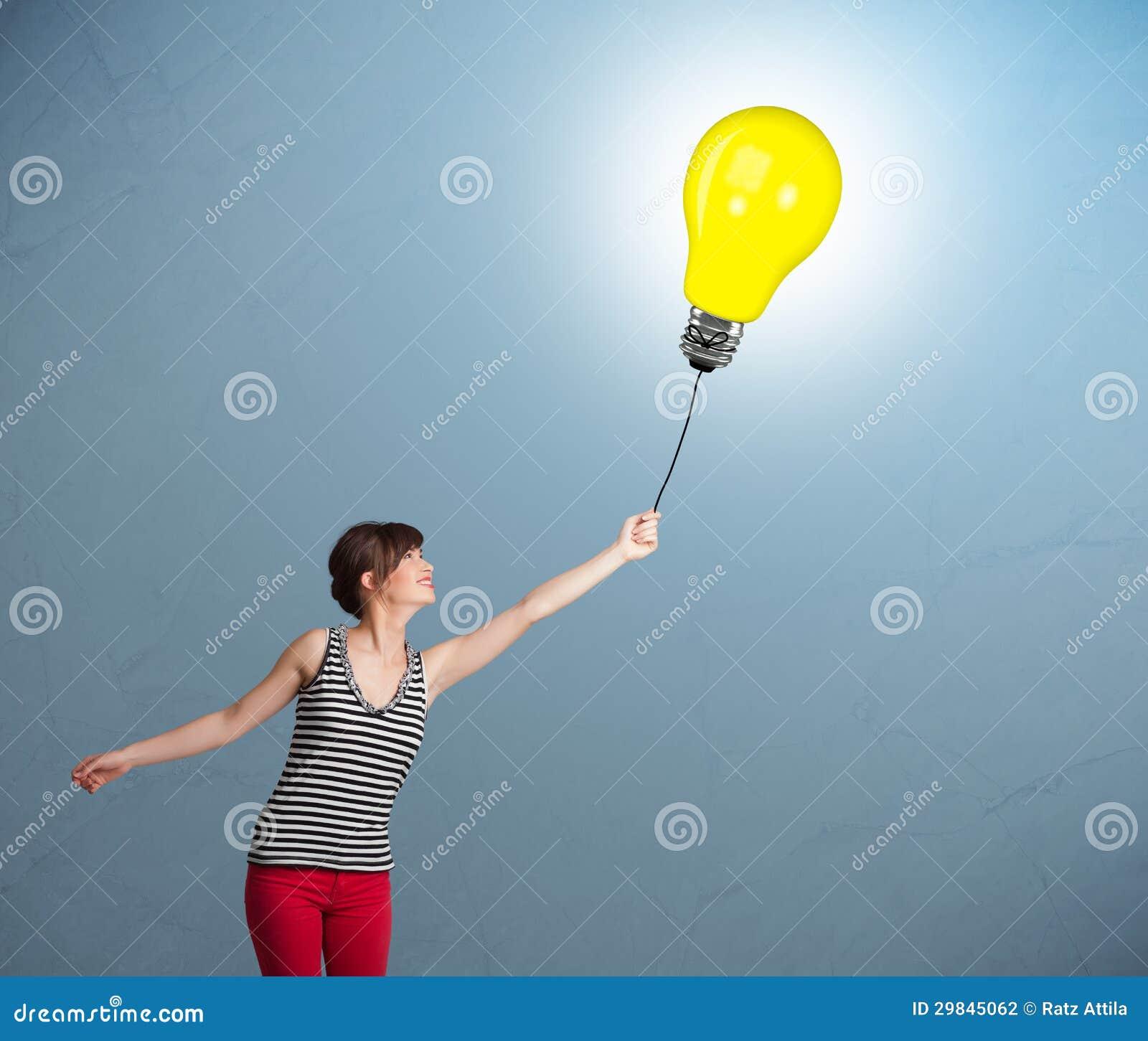 Senhora bonita que guardara um balão da ampola