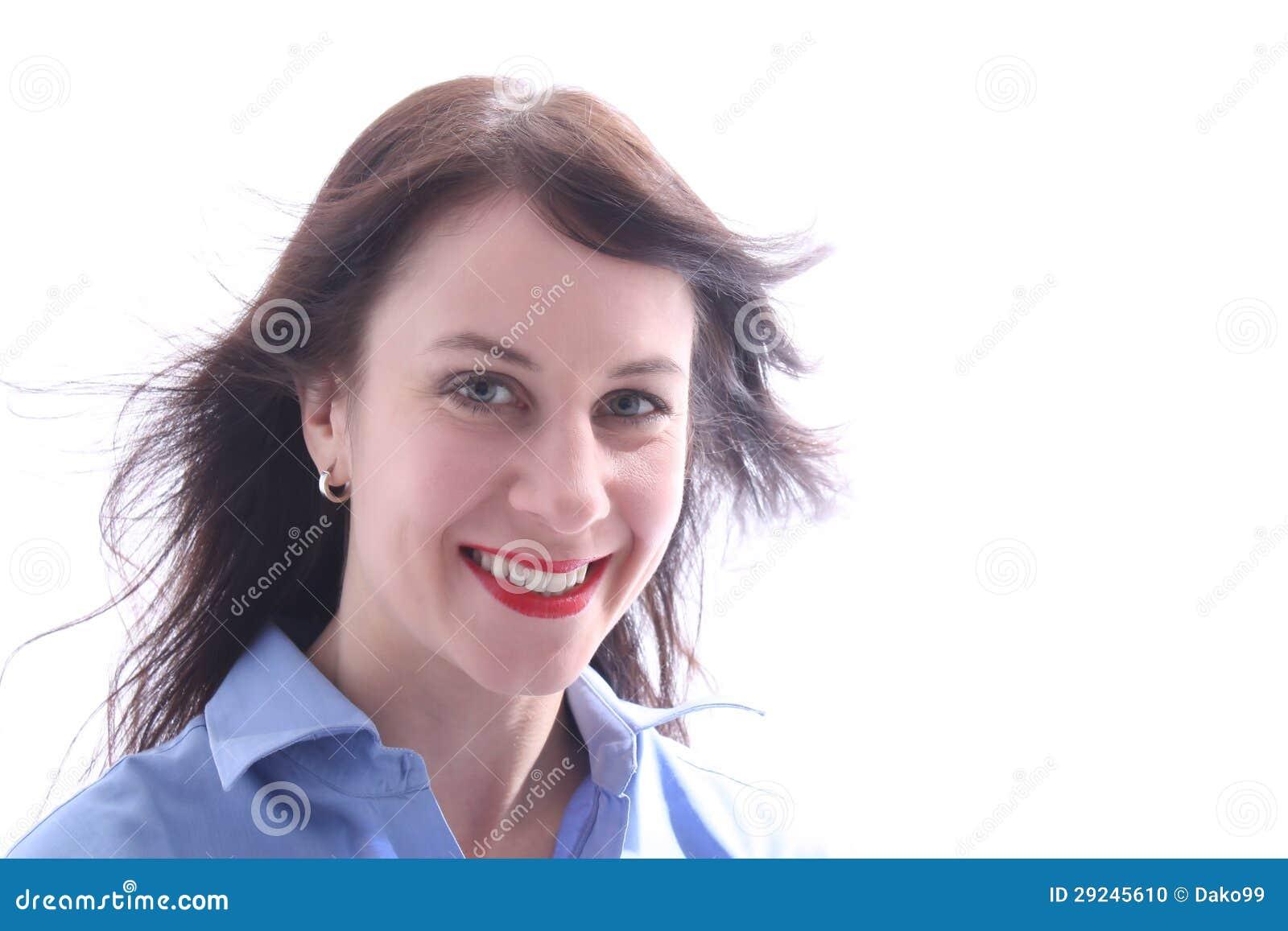 Download Jovem Mulher Com Um Relance Feliz Foto de Stock - Imagem de vencedor, novo: 29245610