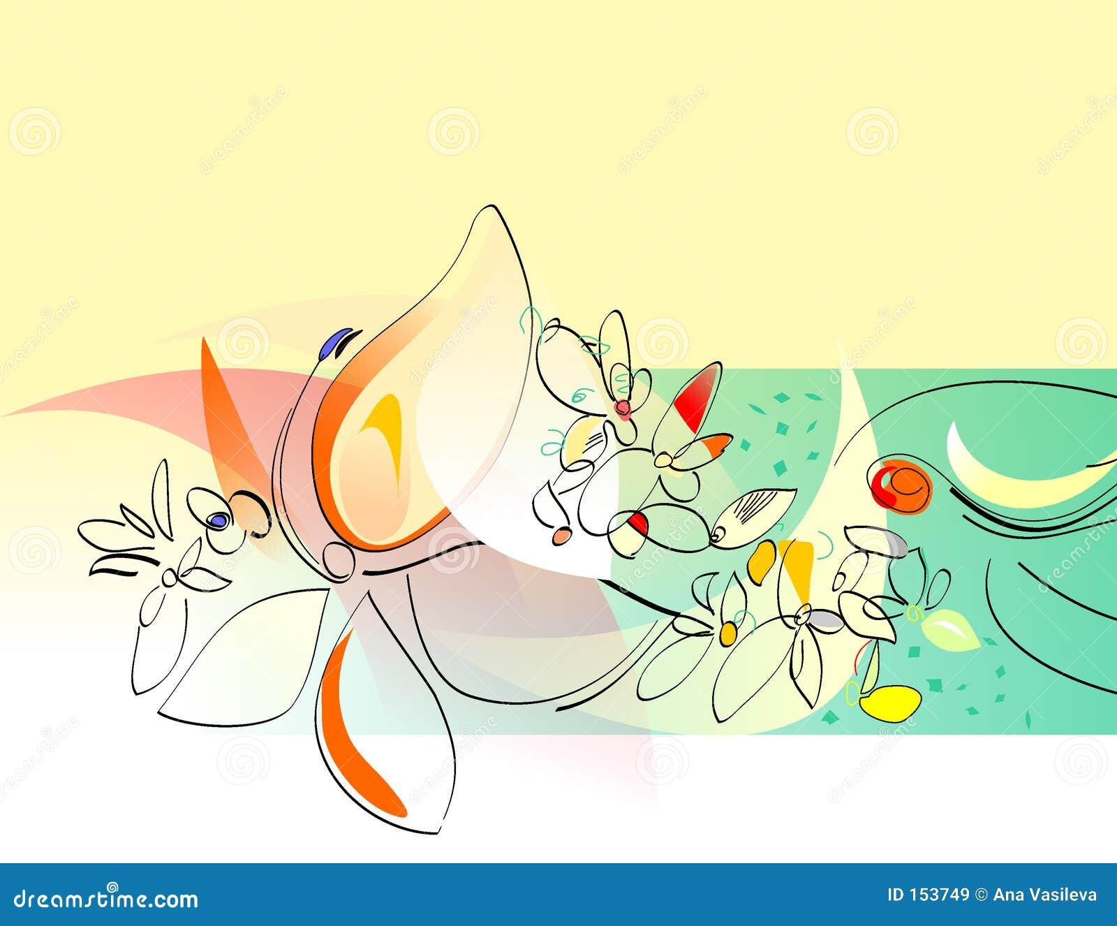 Jowialną kolaż rozkwita wiosna