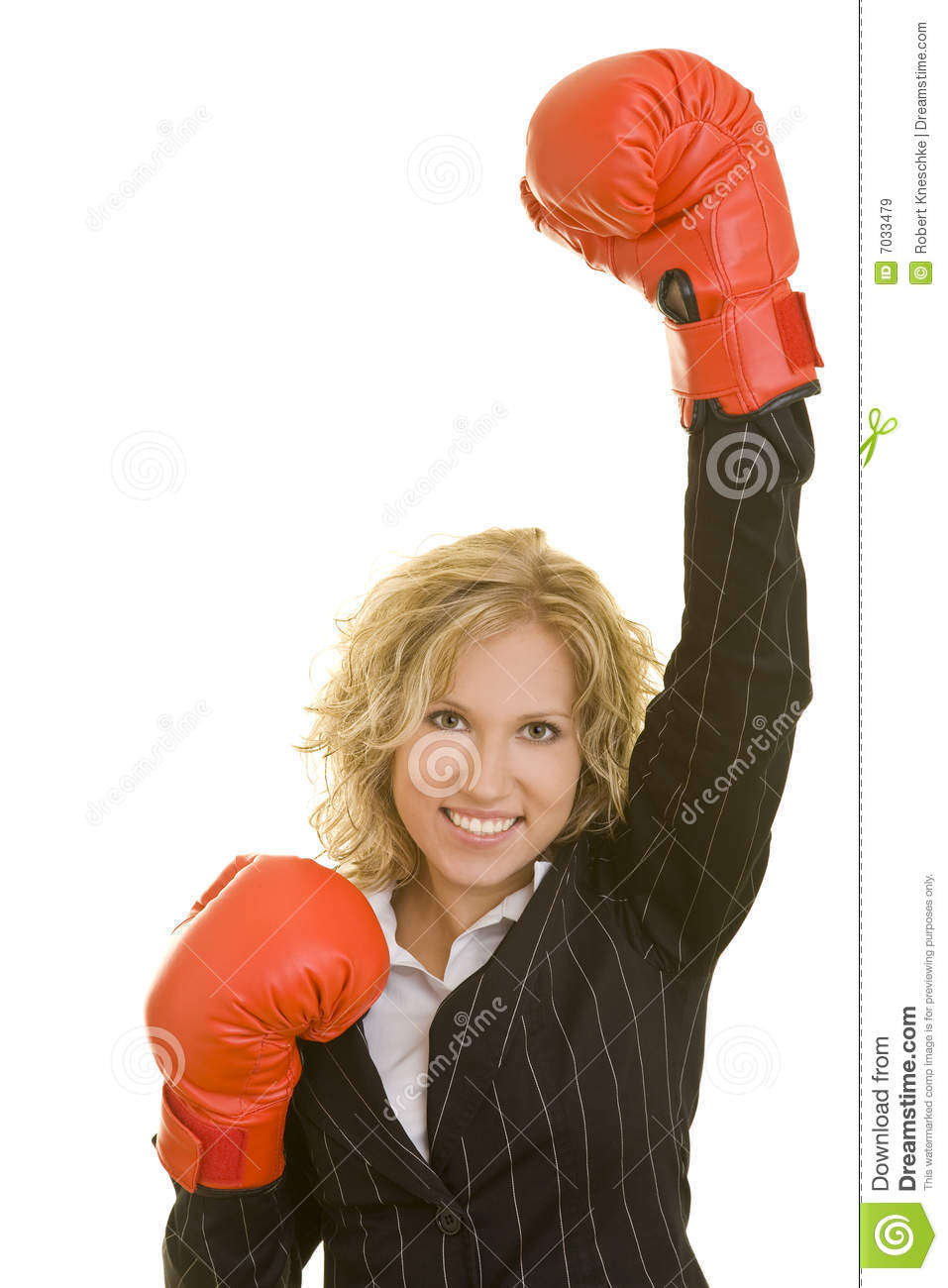 Joy with boxing gloves