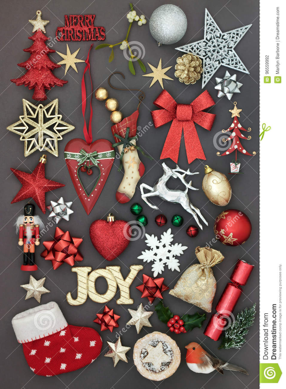 Joy at Christmas stock photo. Image of holly, heart, collection ...