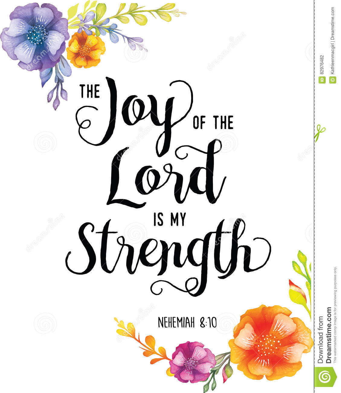 Joy Of The Lord Is My Strength Stock Illustration