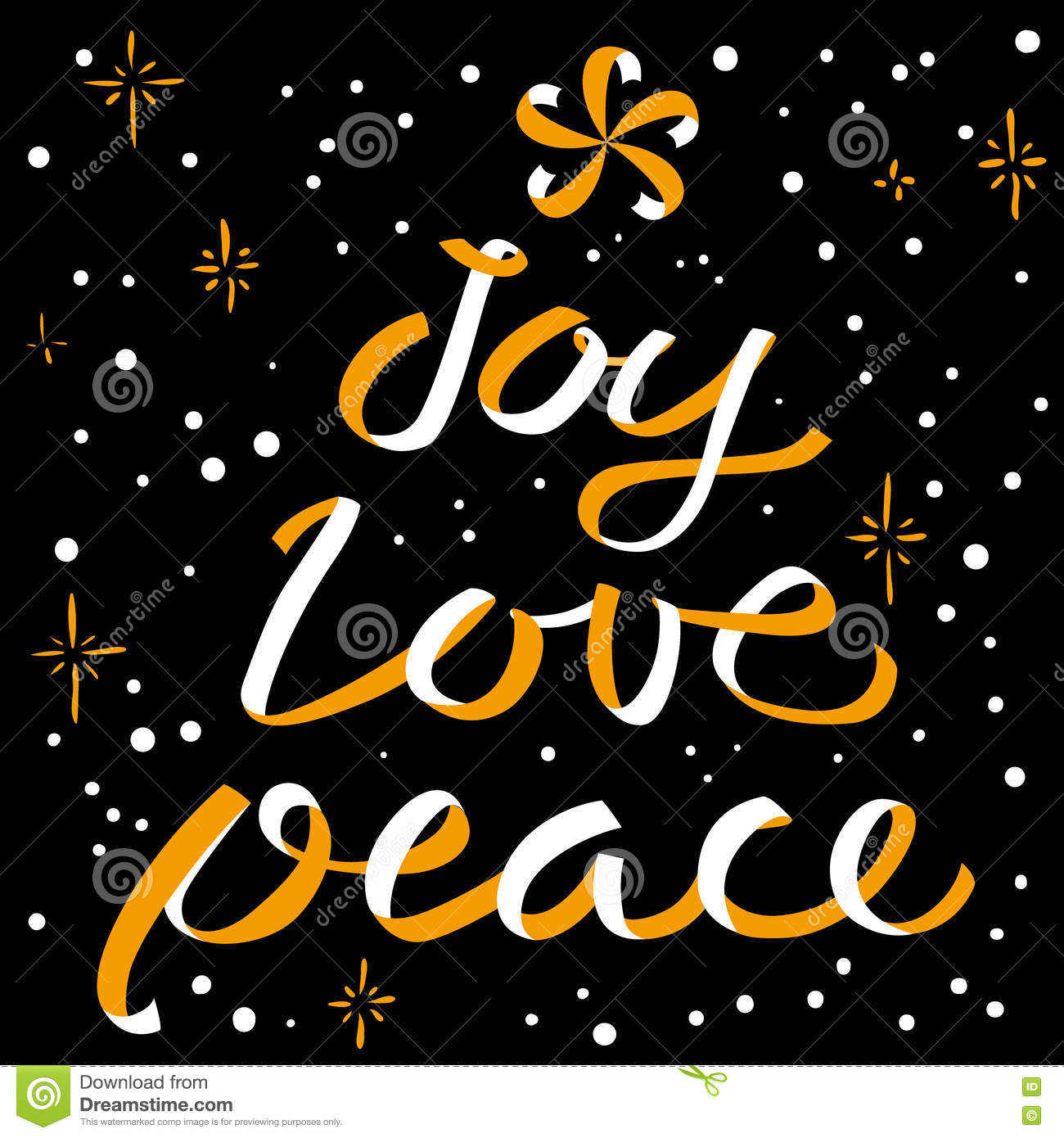 joy love peace christmas calligraphic lettering new year backgr